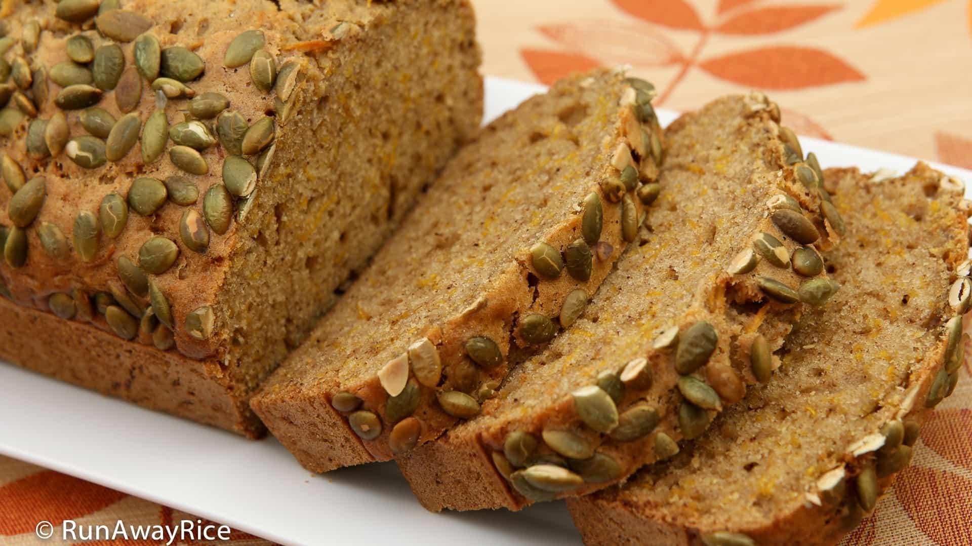 Pumpkin Spice Bread with Fresh Pumpkin - Easy Recipe and Video