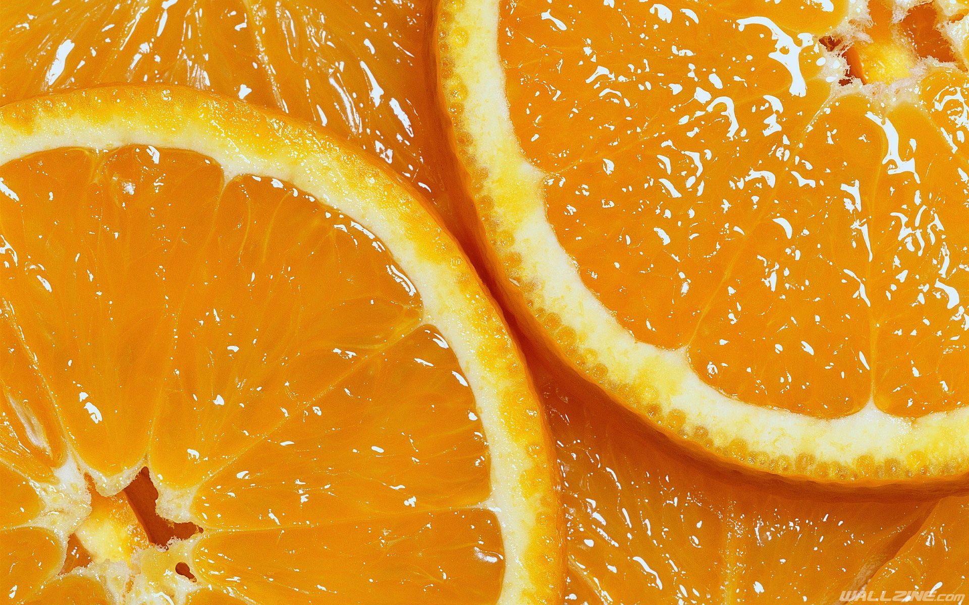 Juicy Orange Slices Wallpaper | HD Desktop Wallpapers | Pinterest ...