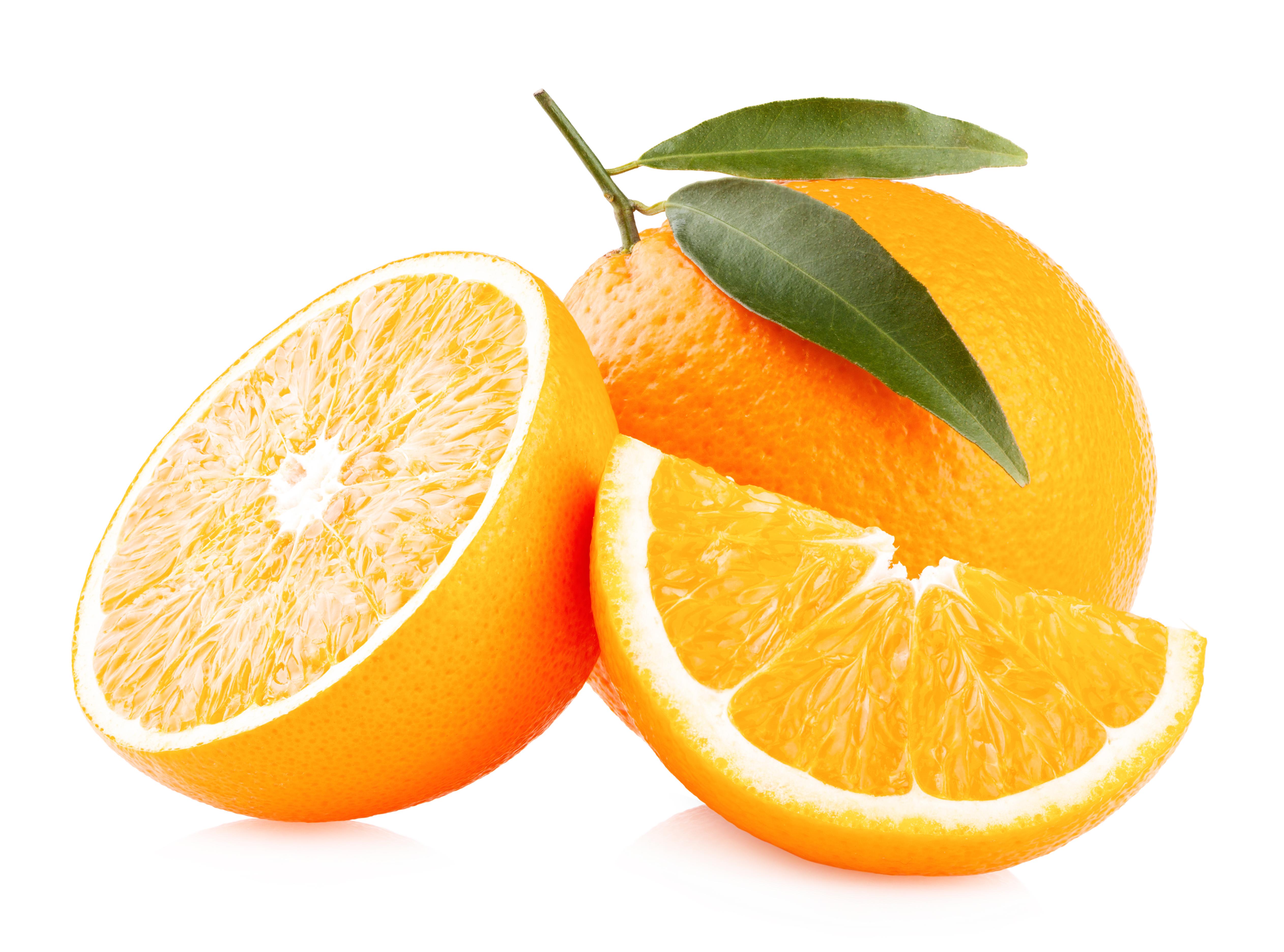 Sliced ripe oranges photo