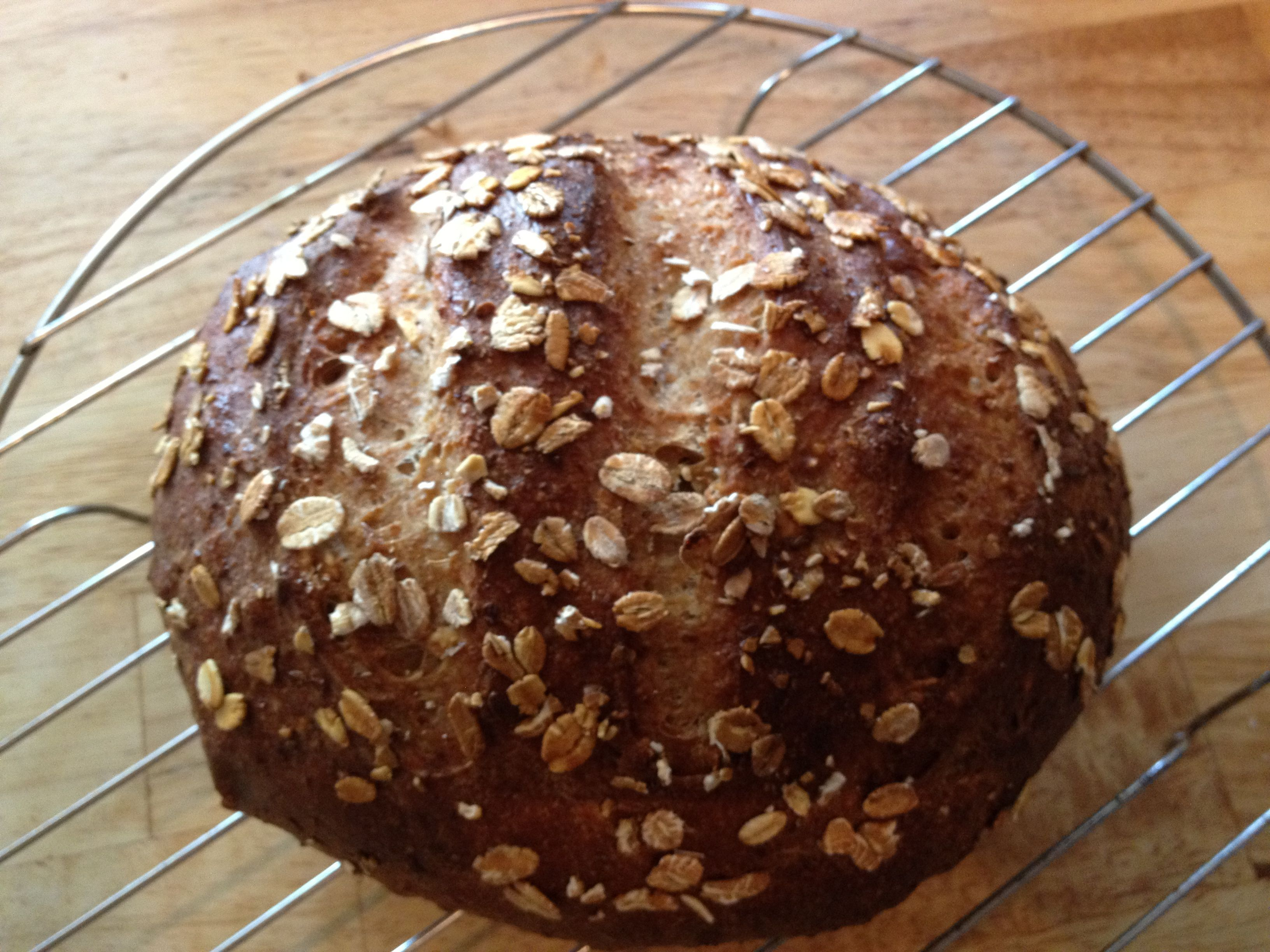 Beautiful whole-grain homemade bread from the