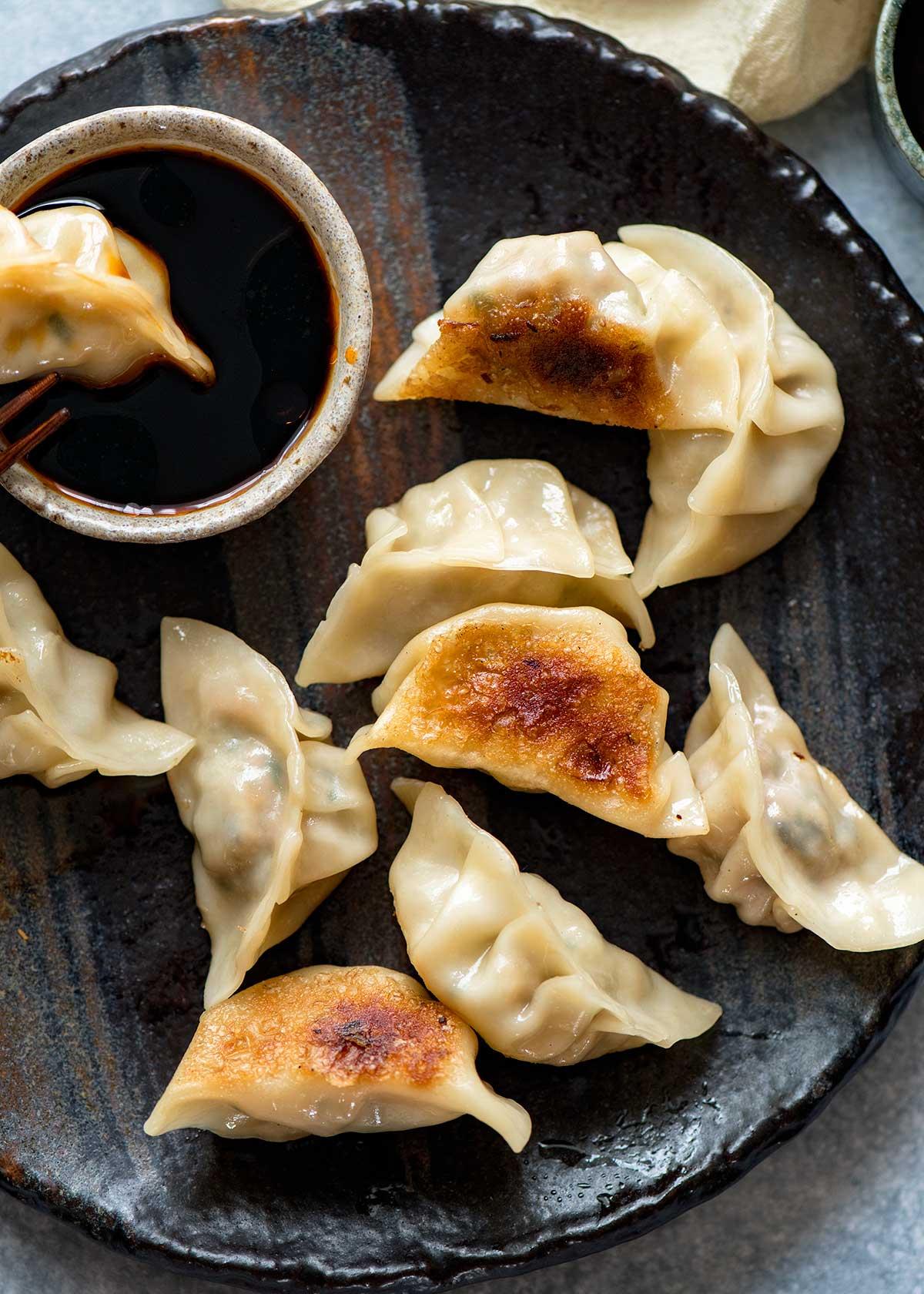 Fried dumplings photo