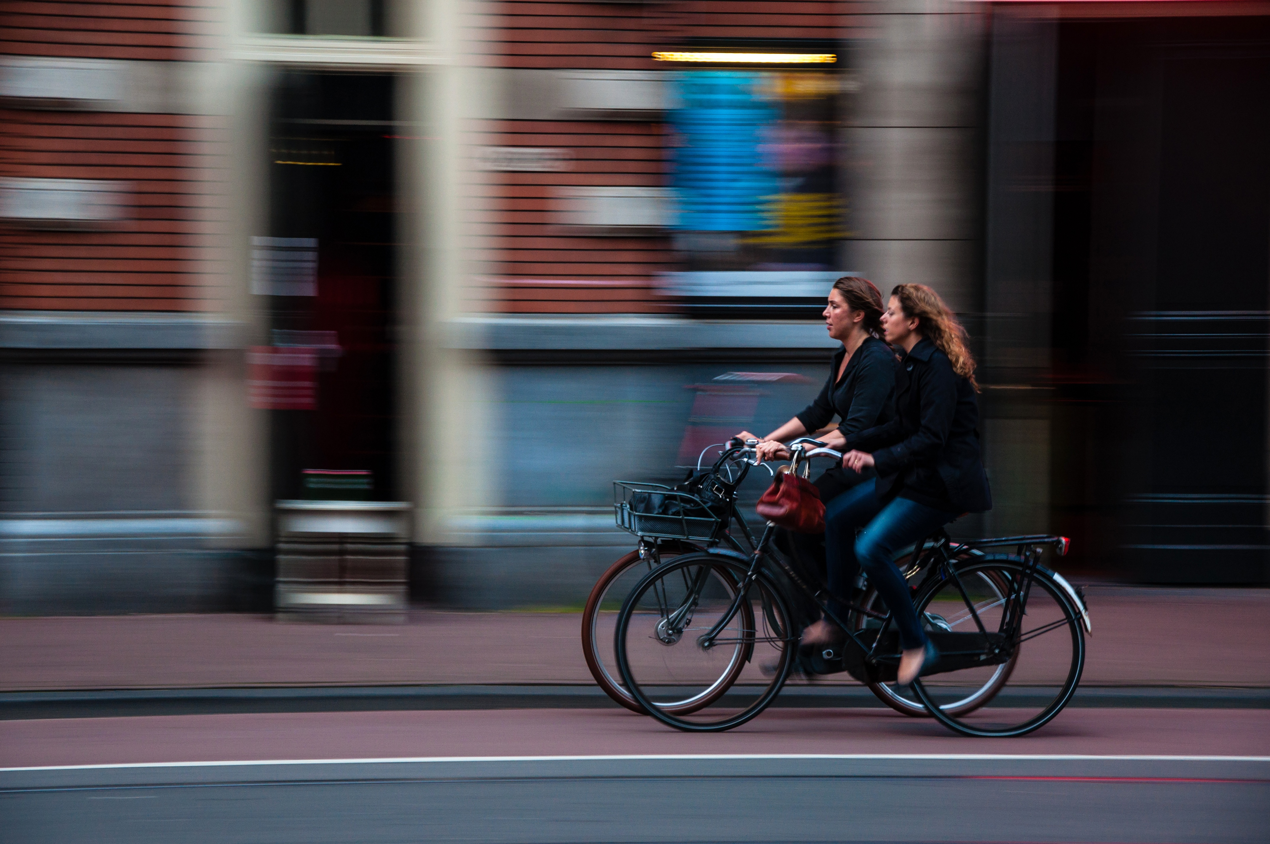 Friends on bikes, Bicycle, Fast, Friends, Movement, HQ Photo