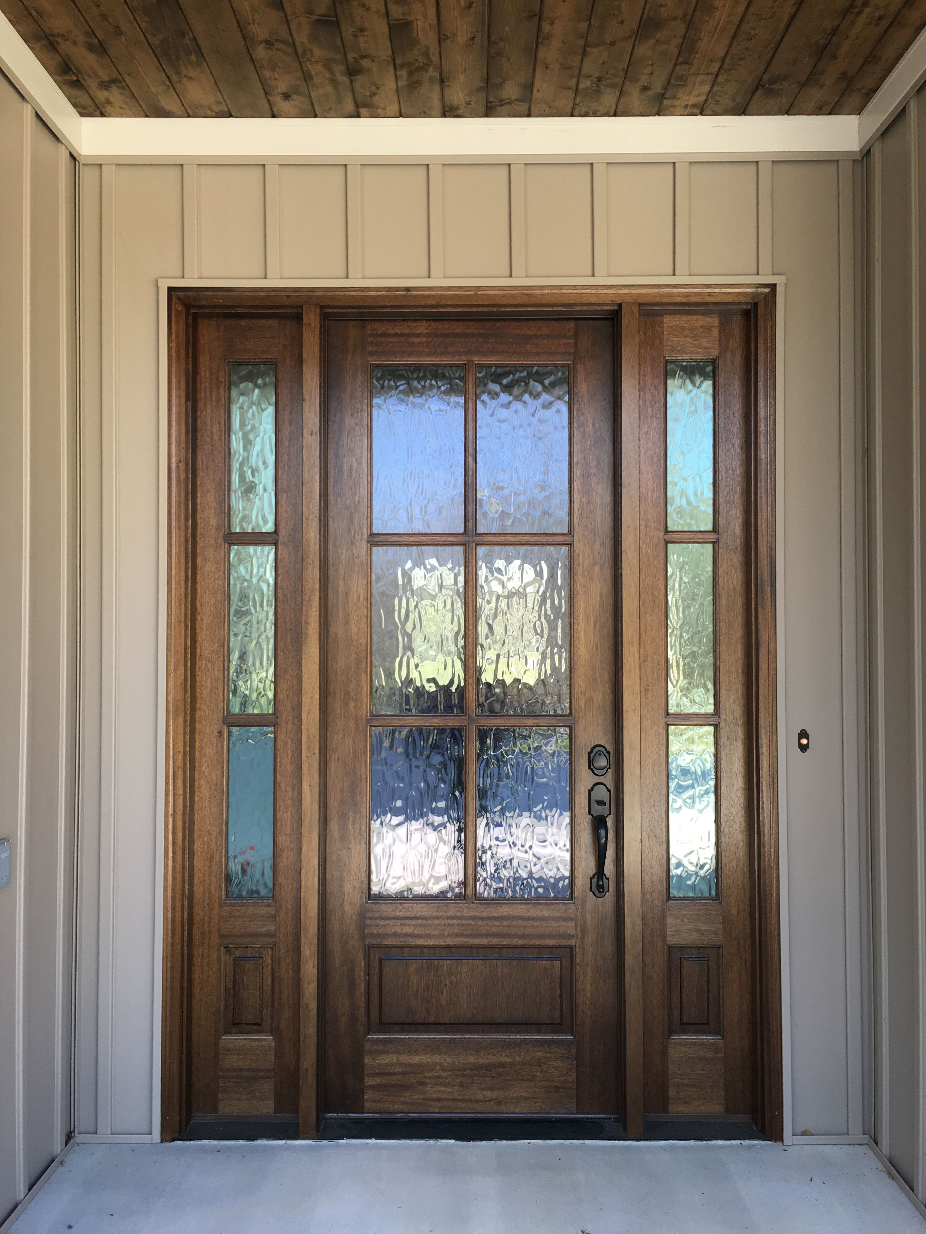 Mahogany front door with privacy glass. See more pictures on ...