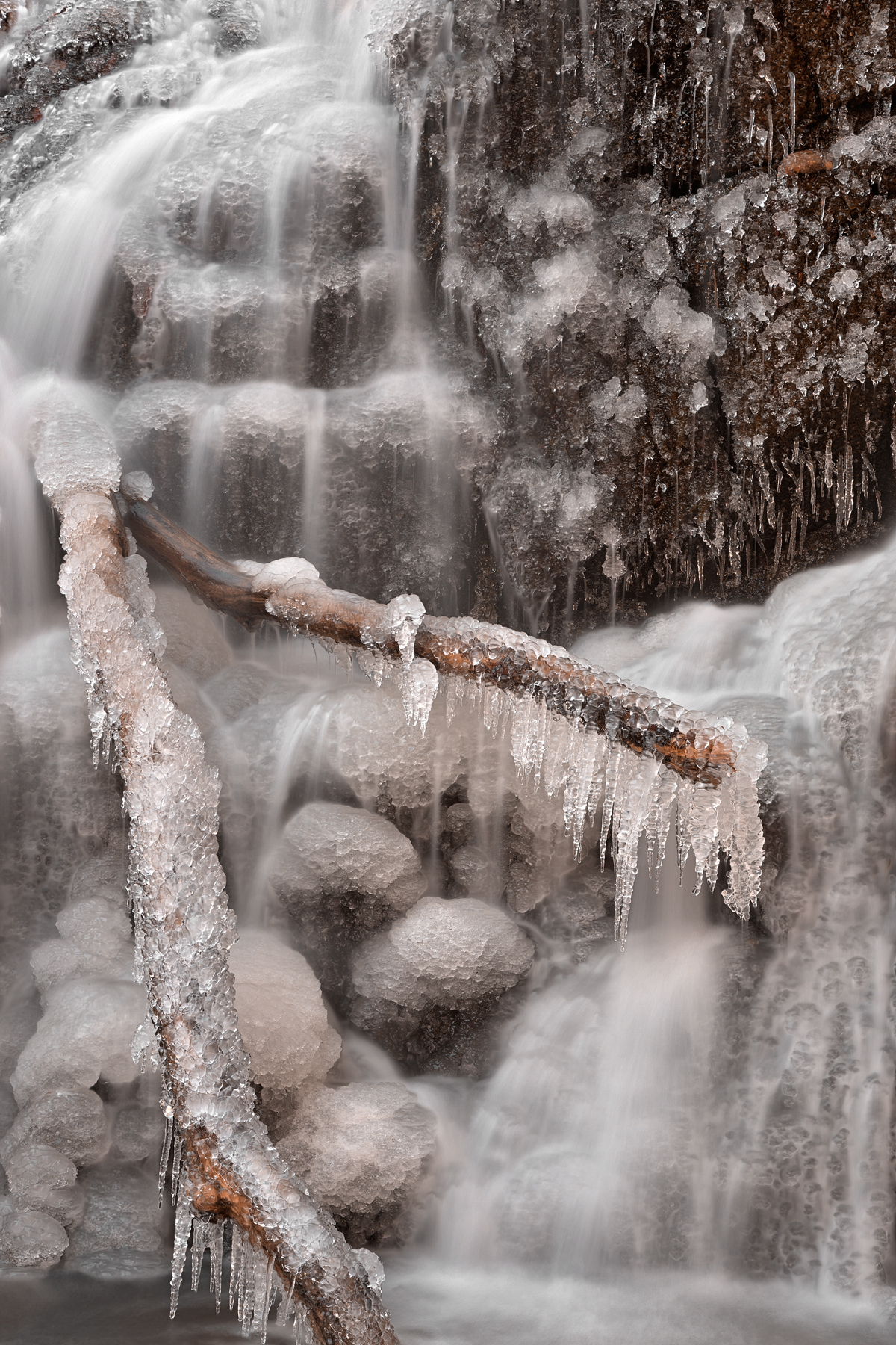 Frozen avalon falls - hdr photo