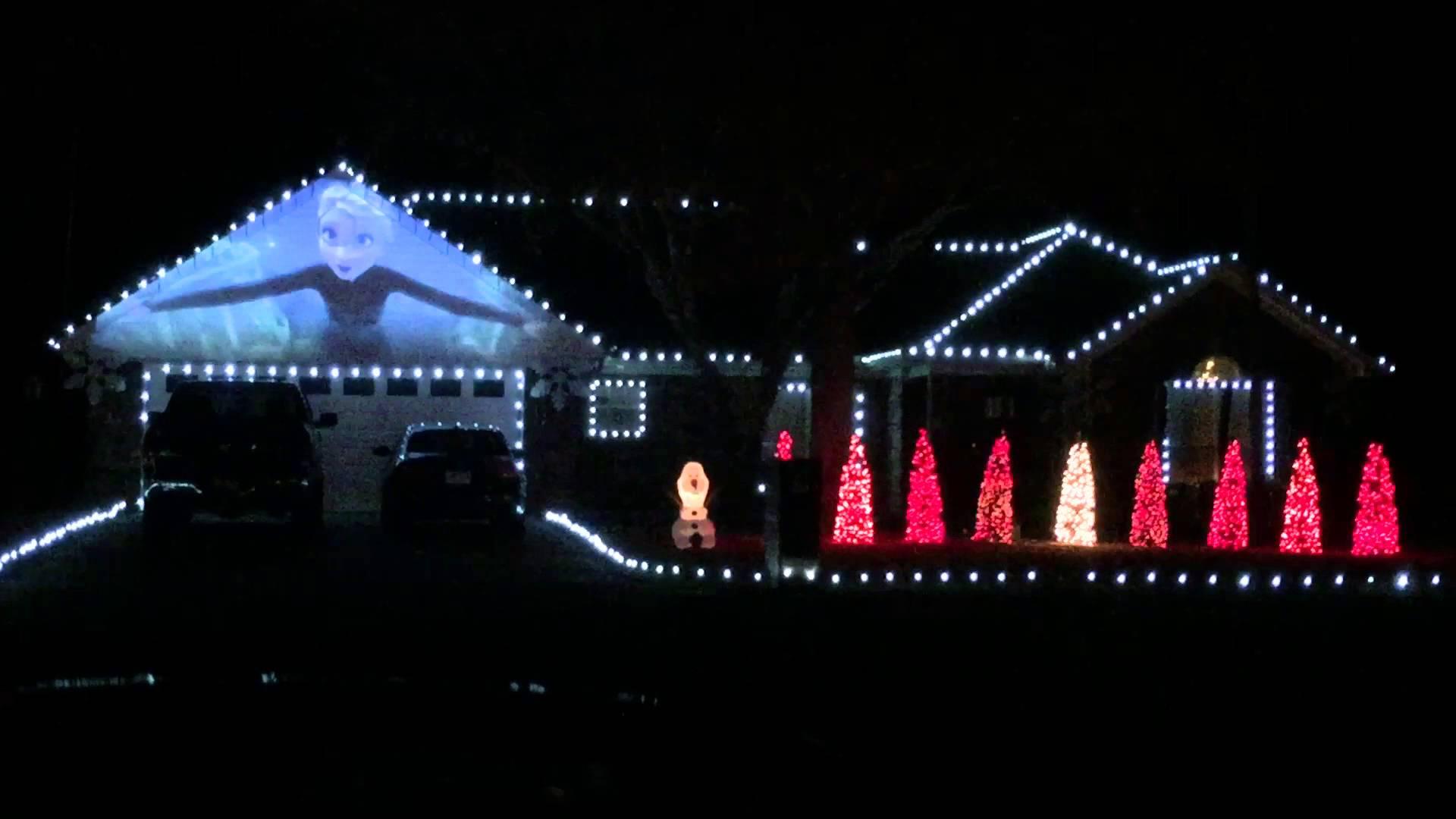 Frozen Christmas Lights - YouTube