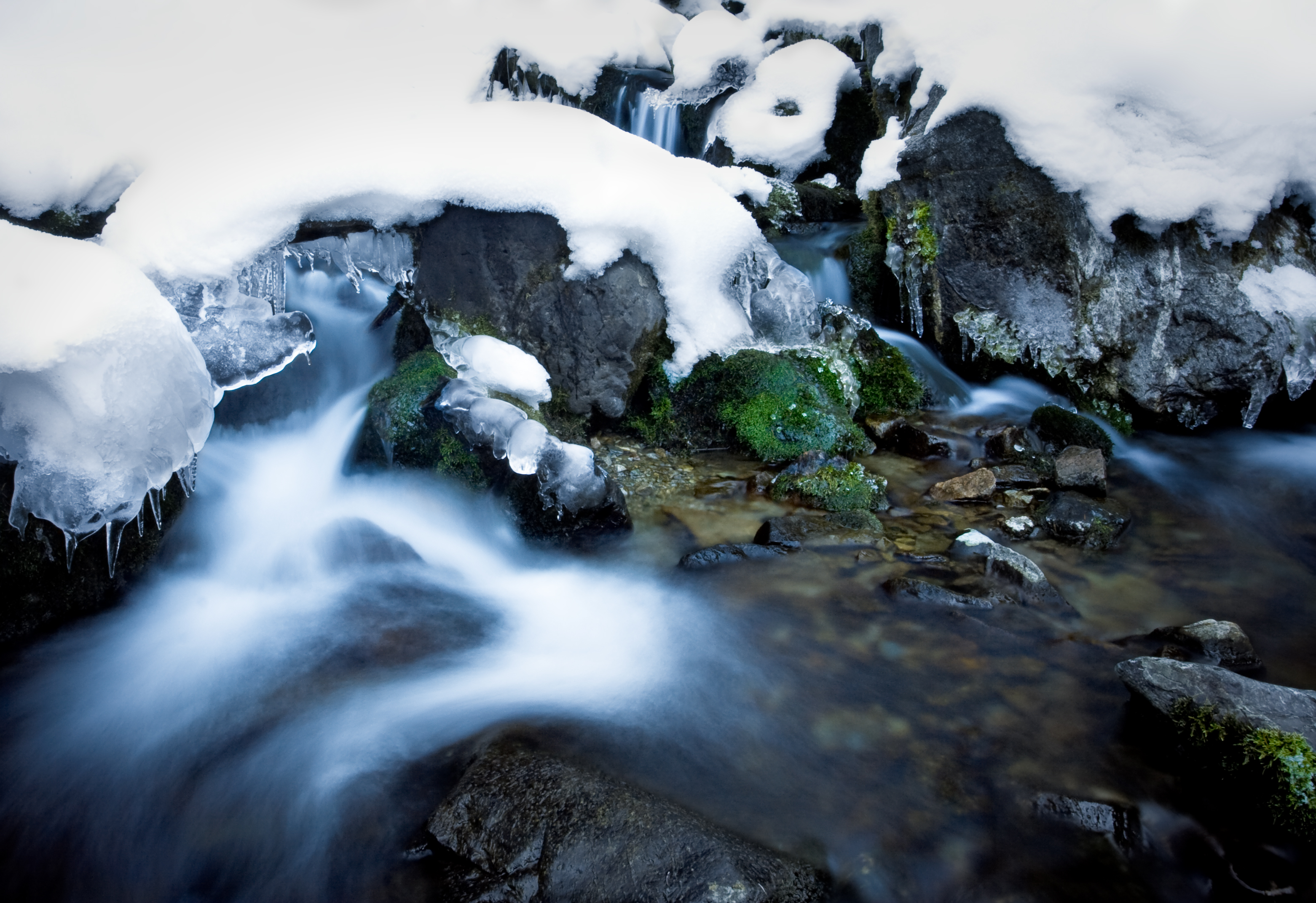 Frozen River, Blue, River, White, Wet, HQ Photo