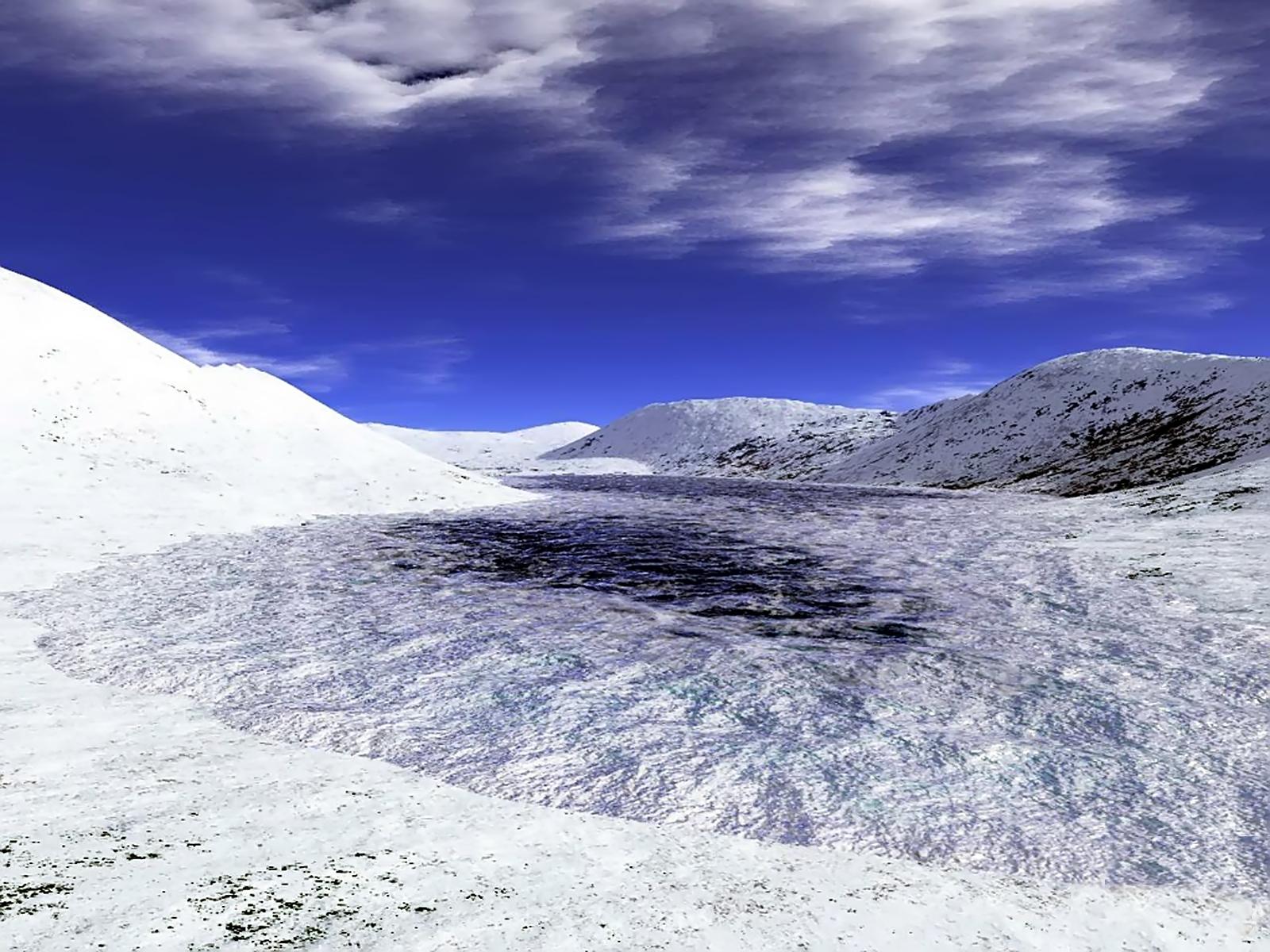FROZEN RIVER, 3d, Bspo06, Frozen, Ice, HQ Photo