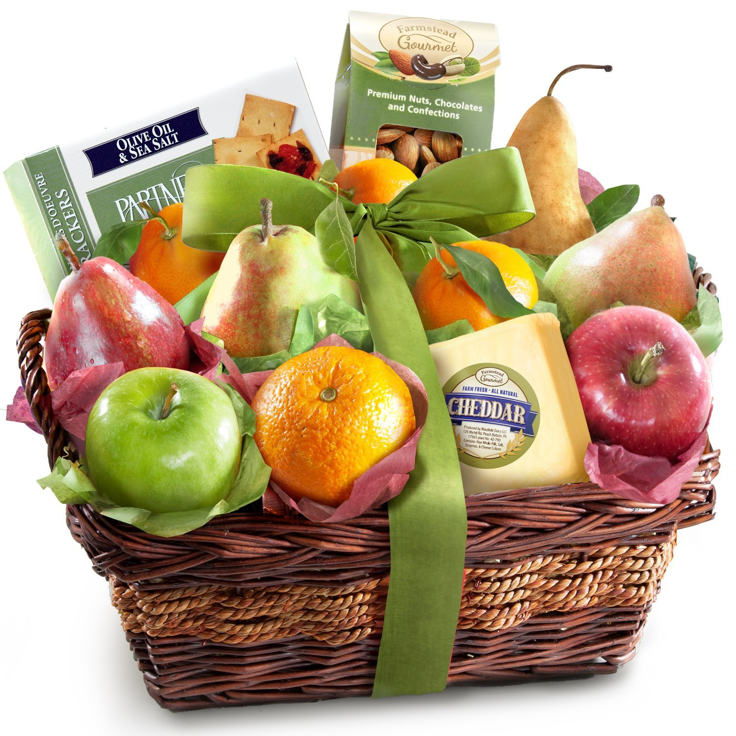 Amazon.com : Golden State Fruit Sympathy Fruit Basket with Cheese ...