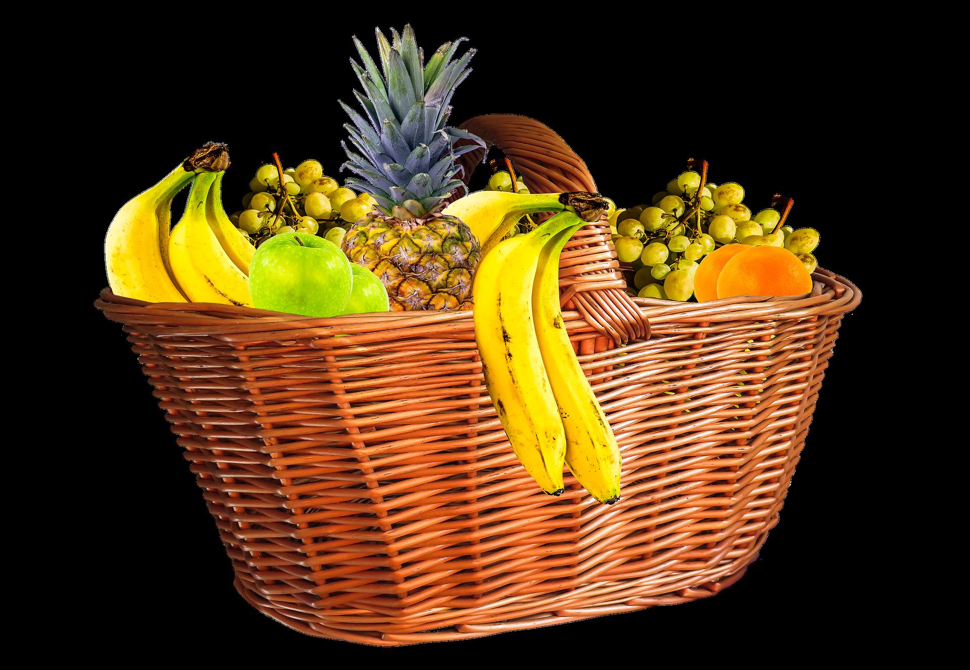 Fruit Basket, Banana, Basket, Food, Fruit, HQ Photo