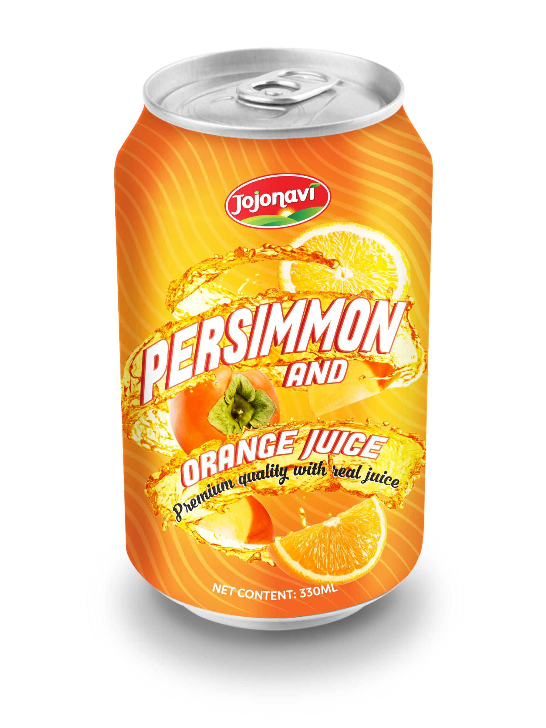 Canned Fruit Juice Supplier Original Persimmon with Orange Juice ...