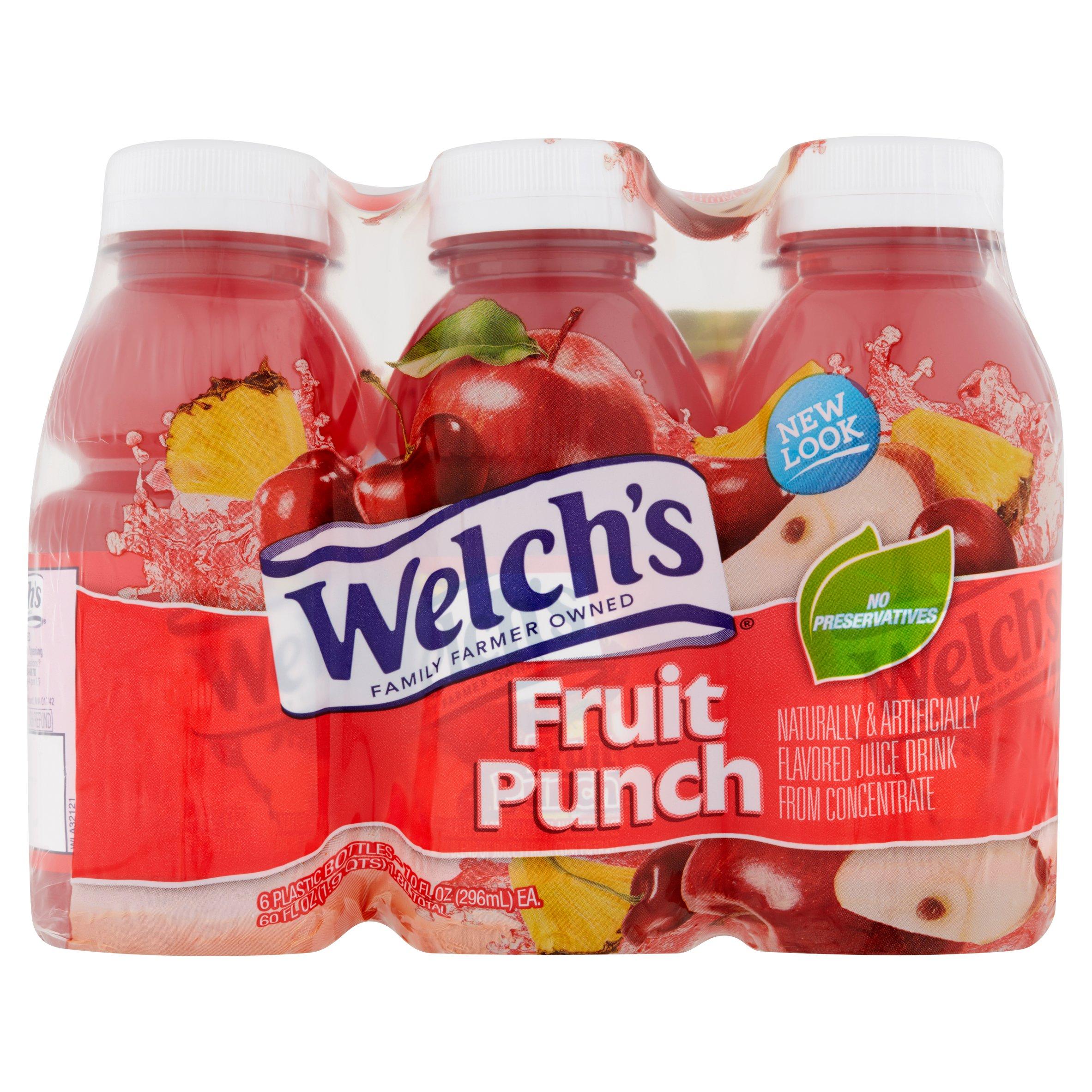 Welch's Juice, Fruit Punch, 10 Fl Oz, 6 Count - Walmart.com