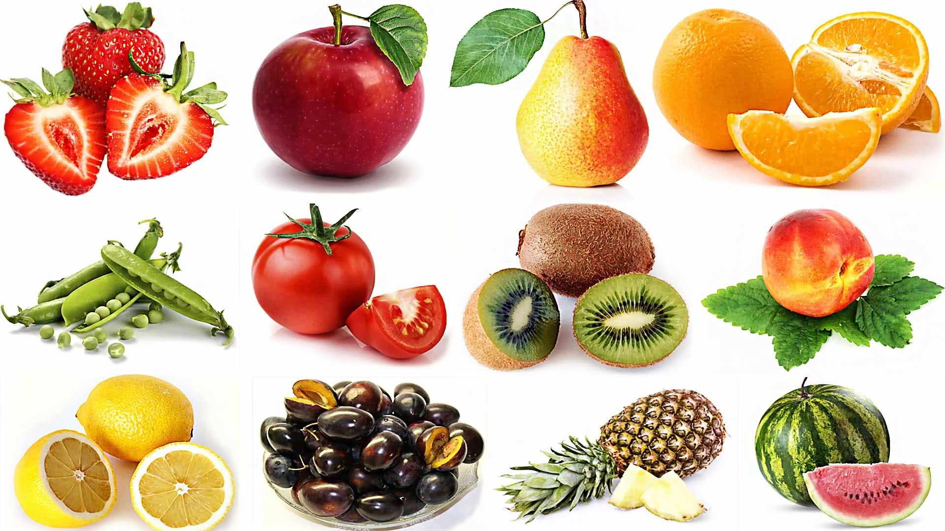 picture relating to Printable Fruit and Vegetables identify Totally free image: End result and greens - Ripe, Orange, Item