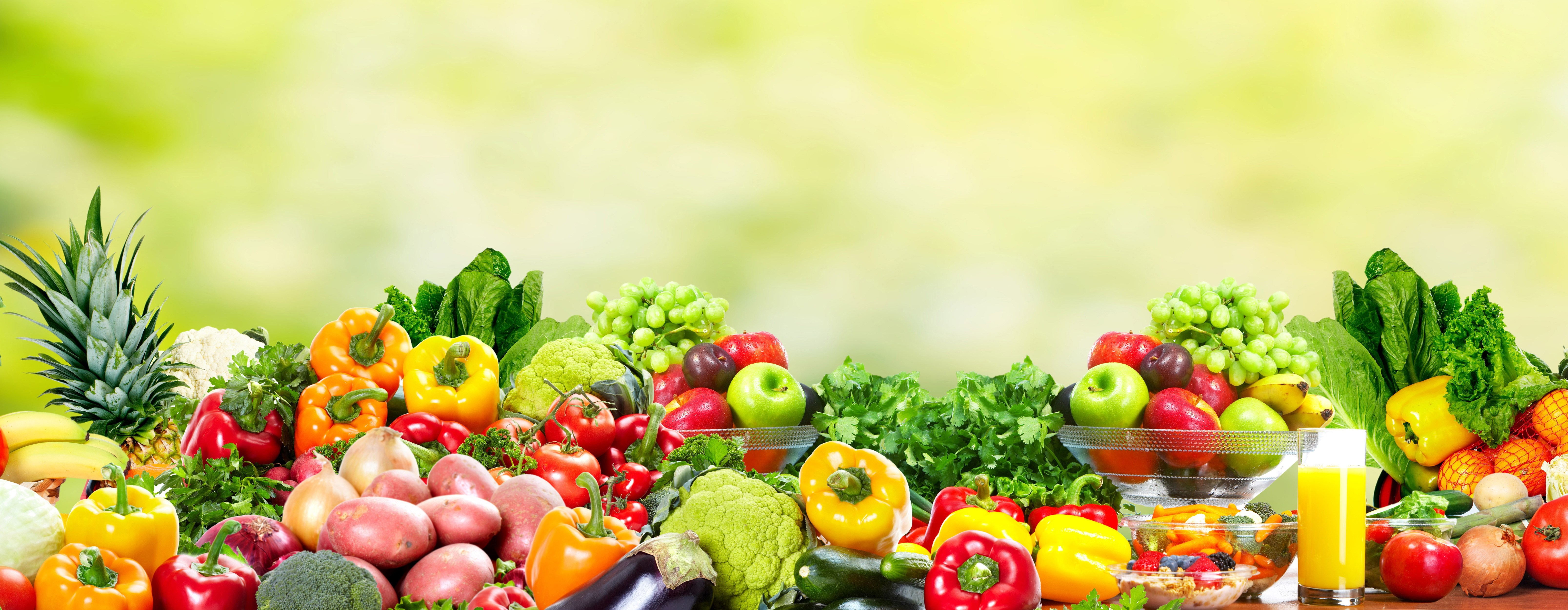 Fresh Fruits and vegetables. Health and diet background - Grace ...