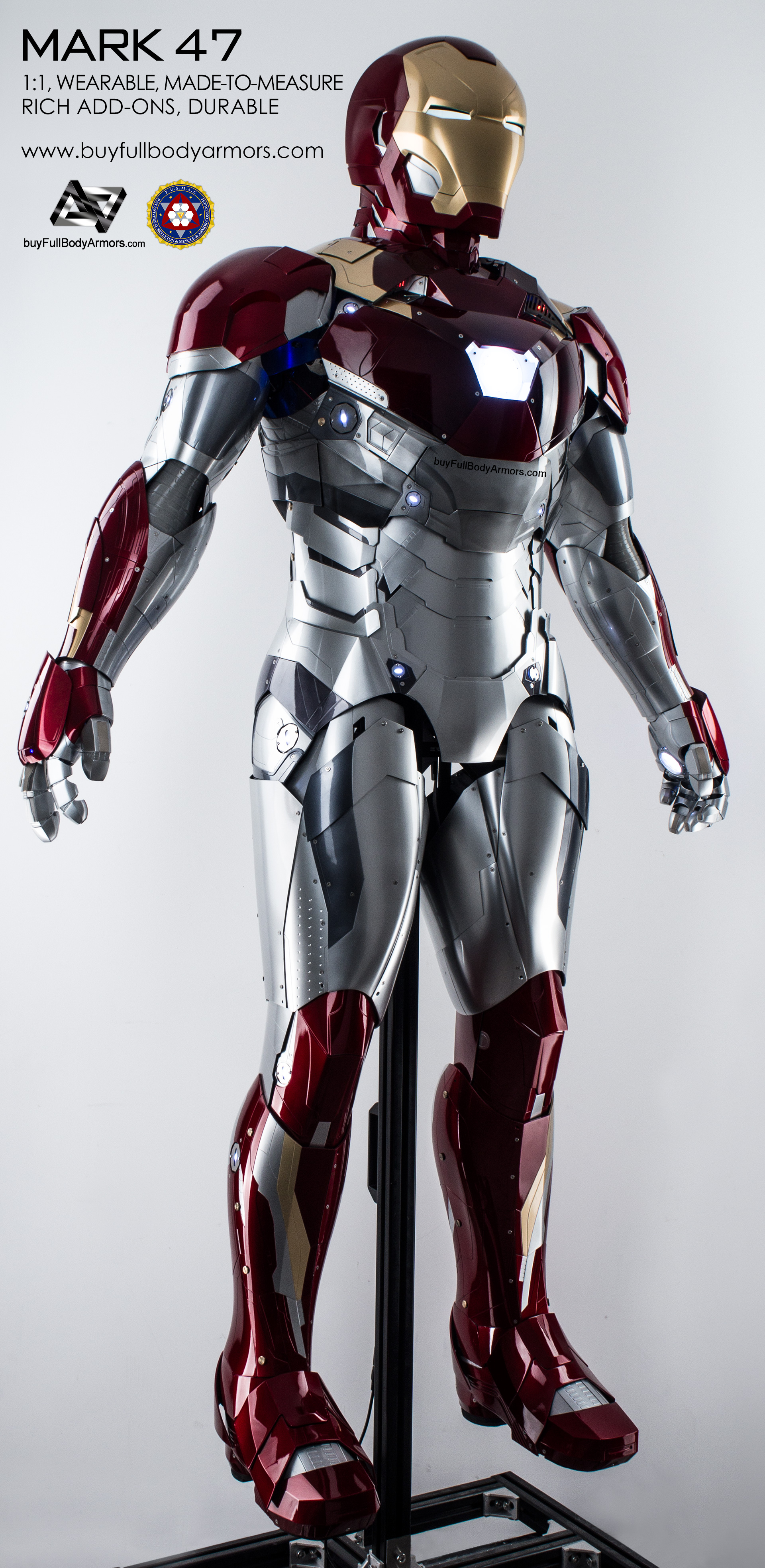 WEARABLE IRON MAN MARK 47 XLVII ARMOR COSTUME – the most anticipated ...