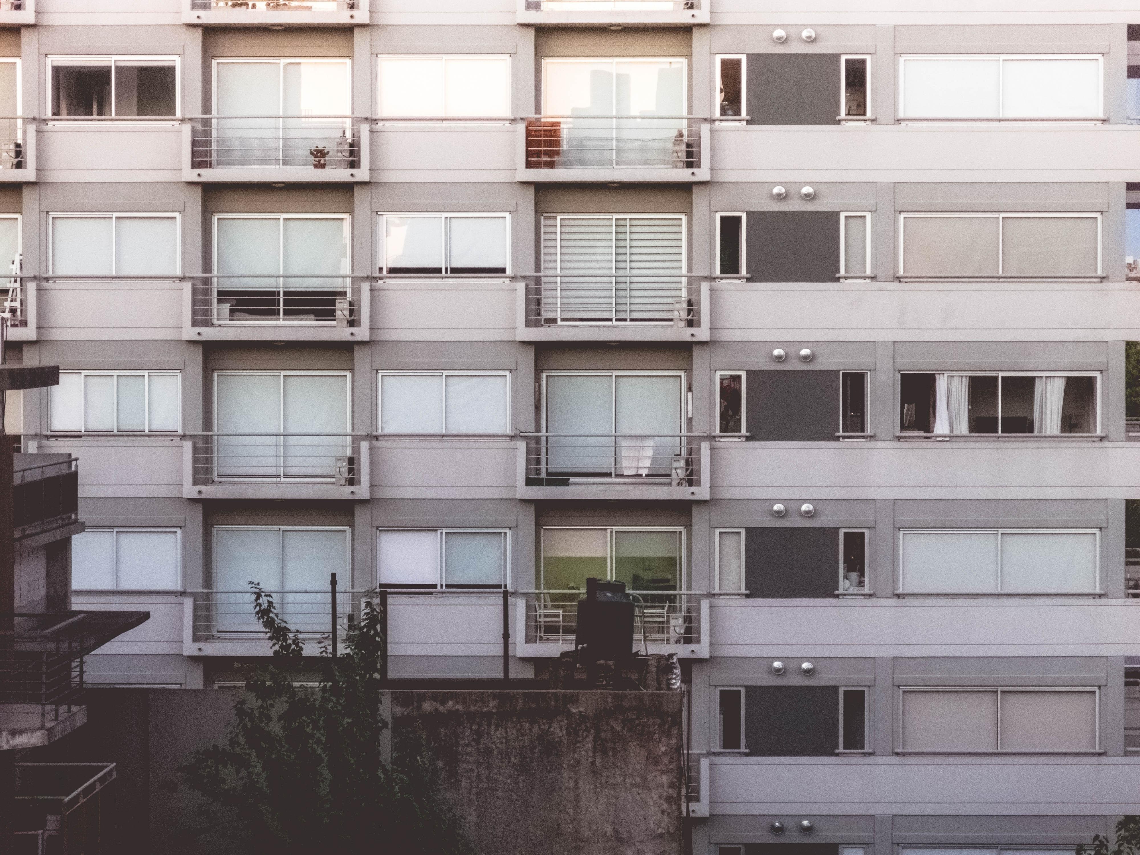 Full frame shot of residential building photo