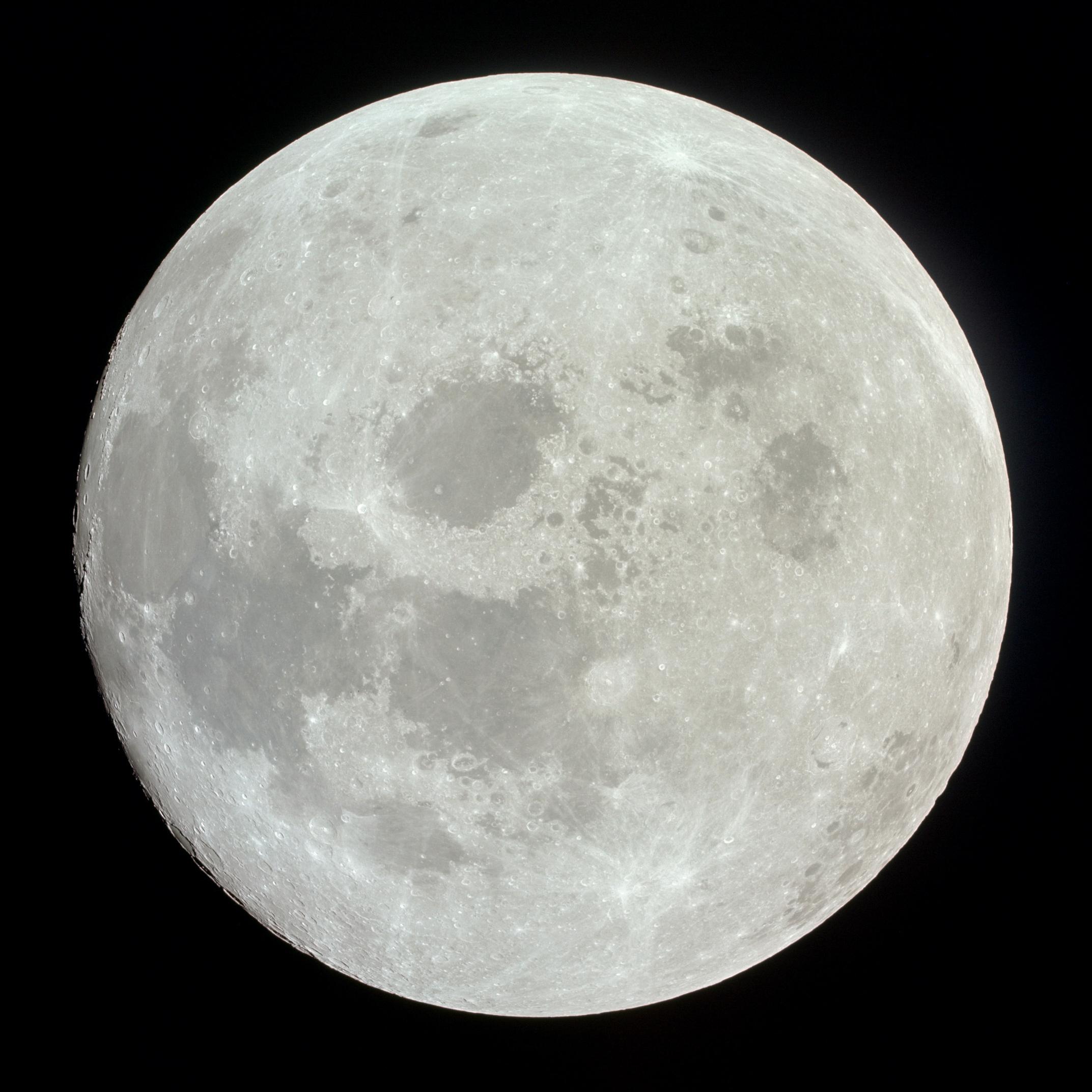 Apollo 11 image of a nearly full Moon | The Planetary Society