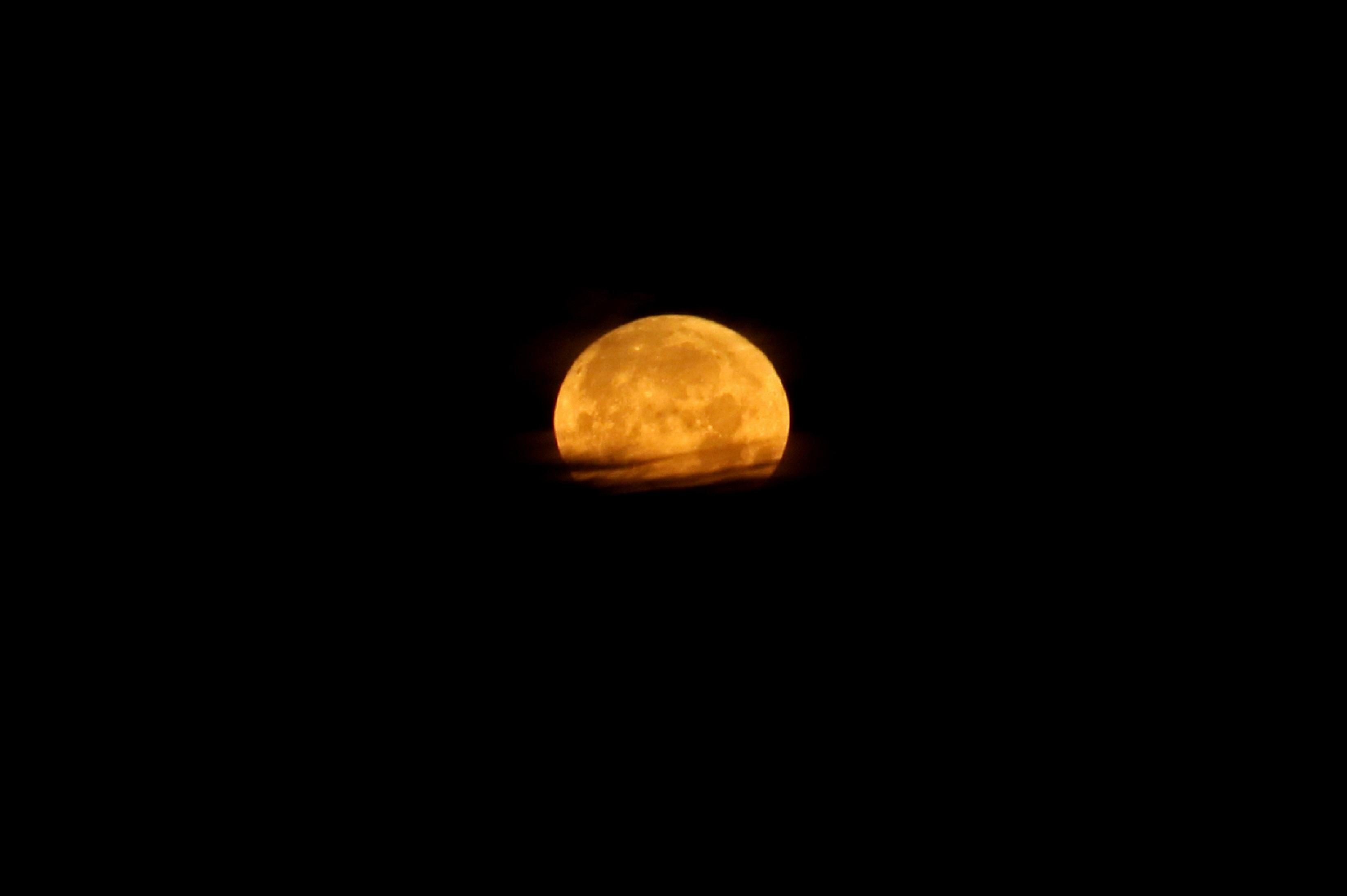 Full Moon, Dark, Full, Moon, Nature, HQ Photo