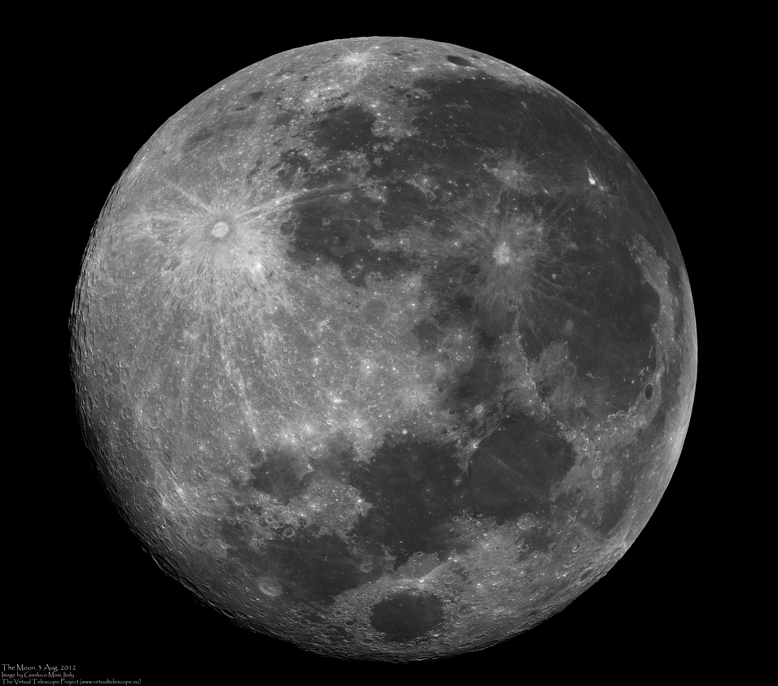 The Full Moon - The Virtual Telescope Project 2.0