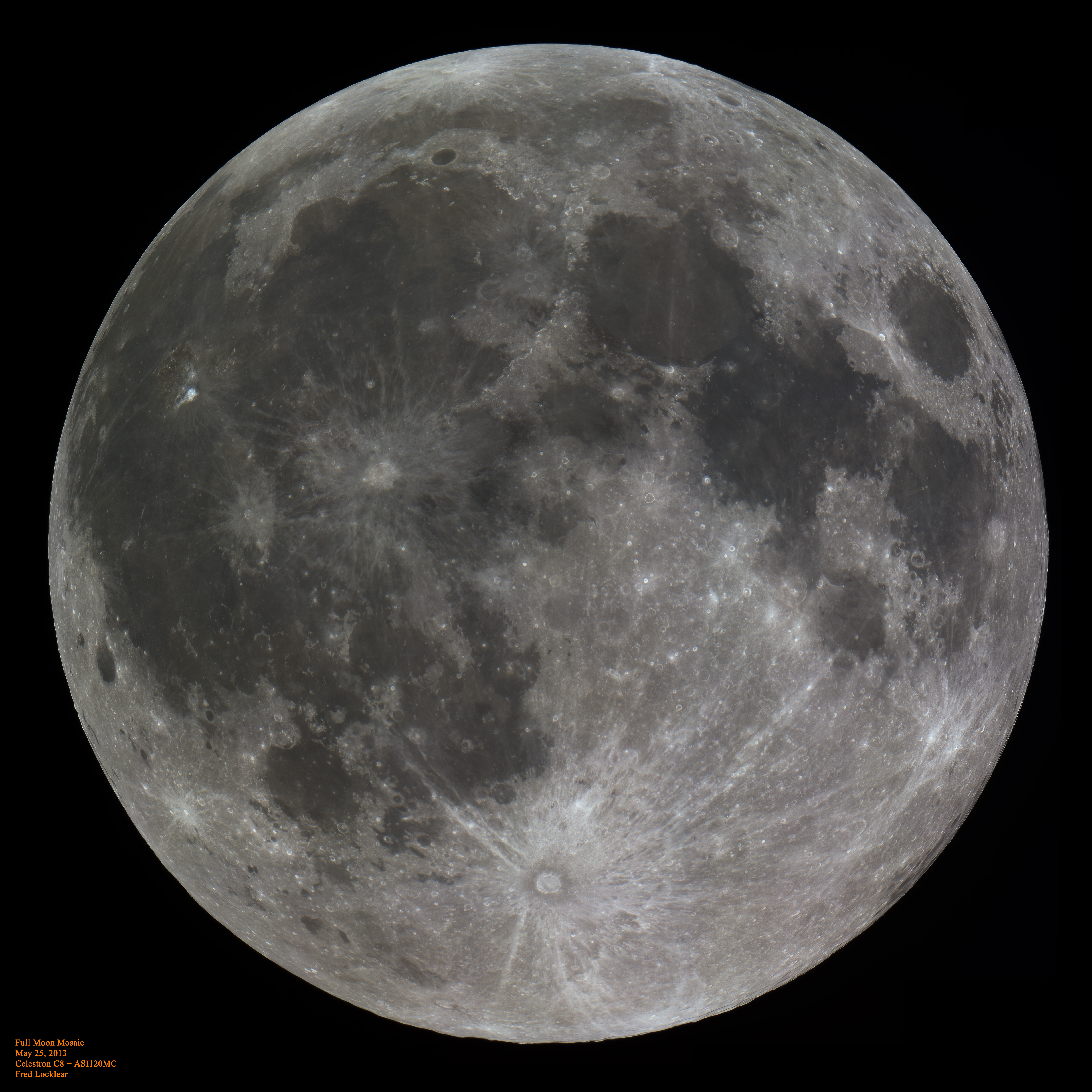 Full Moon: Amazingly detailed hi-res image of the Moon.