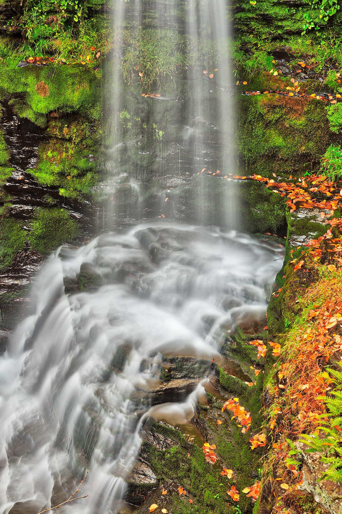 Fulmer autumn moss falls - hdr photo