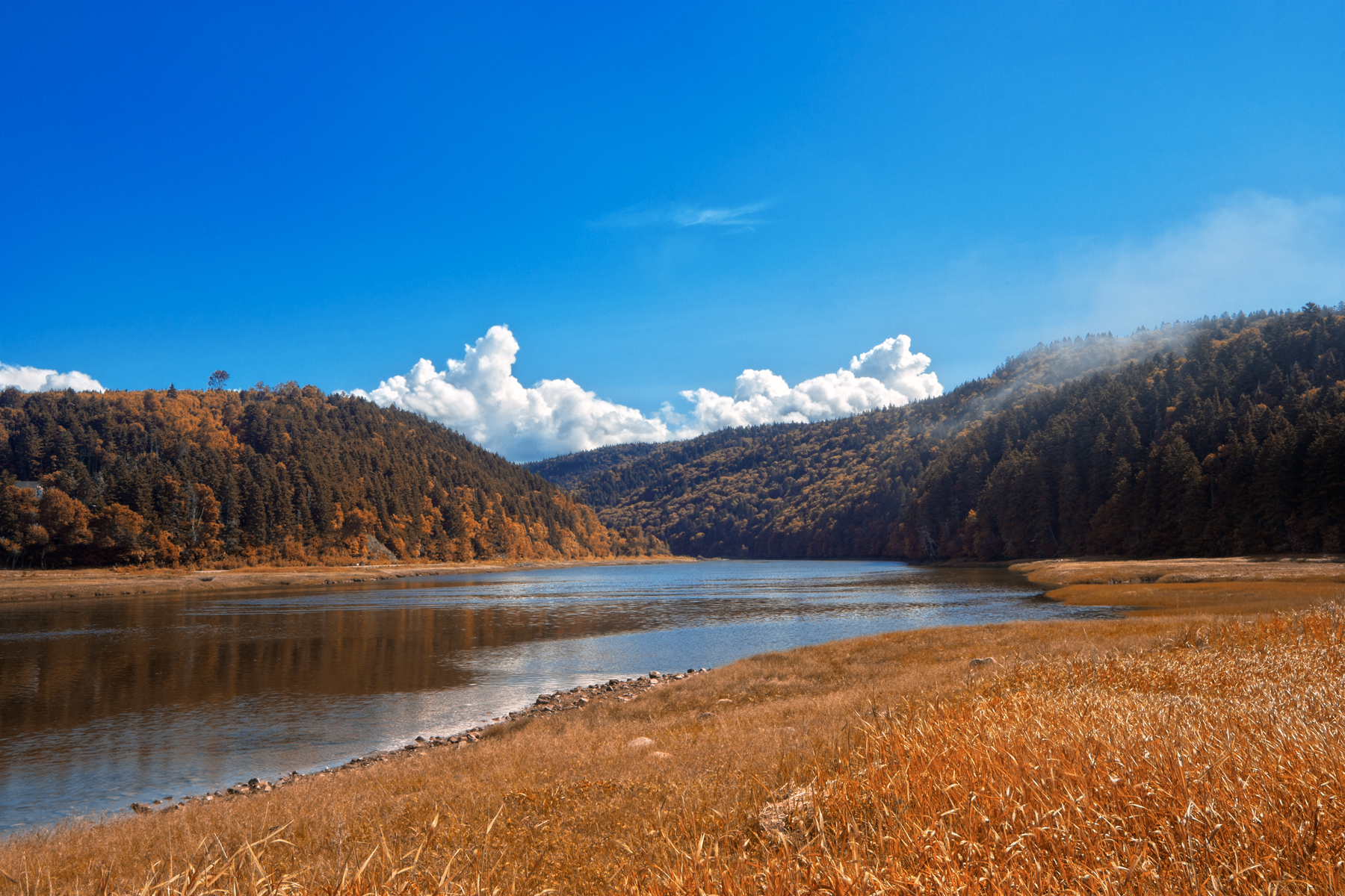 Fundy Scenery - Rustic Orange HDR, Alma, Photo, Reflection, Reflect, HQ Photo