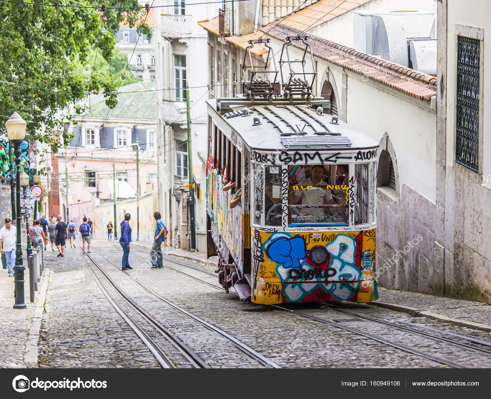 LISBON, PORTUGAL, on June 22, 2017. Summer morning. The rare ...