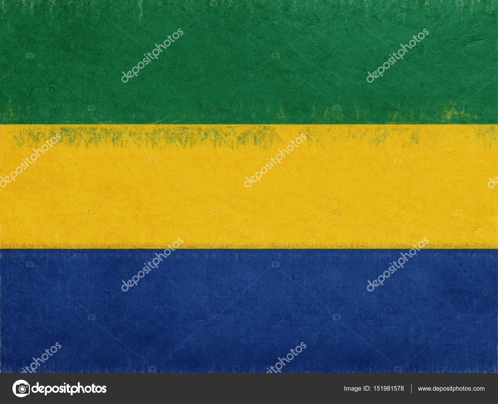 Flag of Gabon Grunge. — Stock Photo © diverroy #151981578