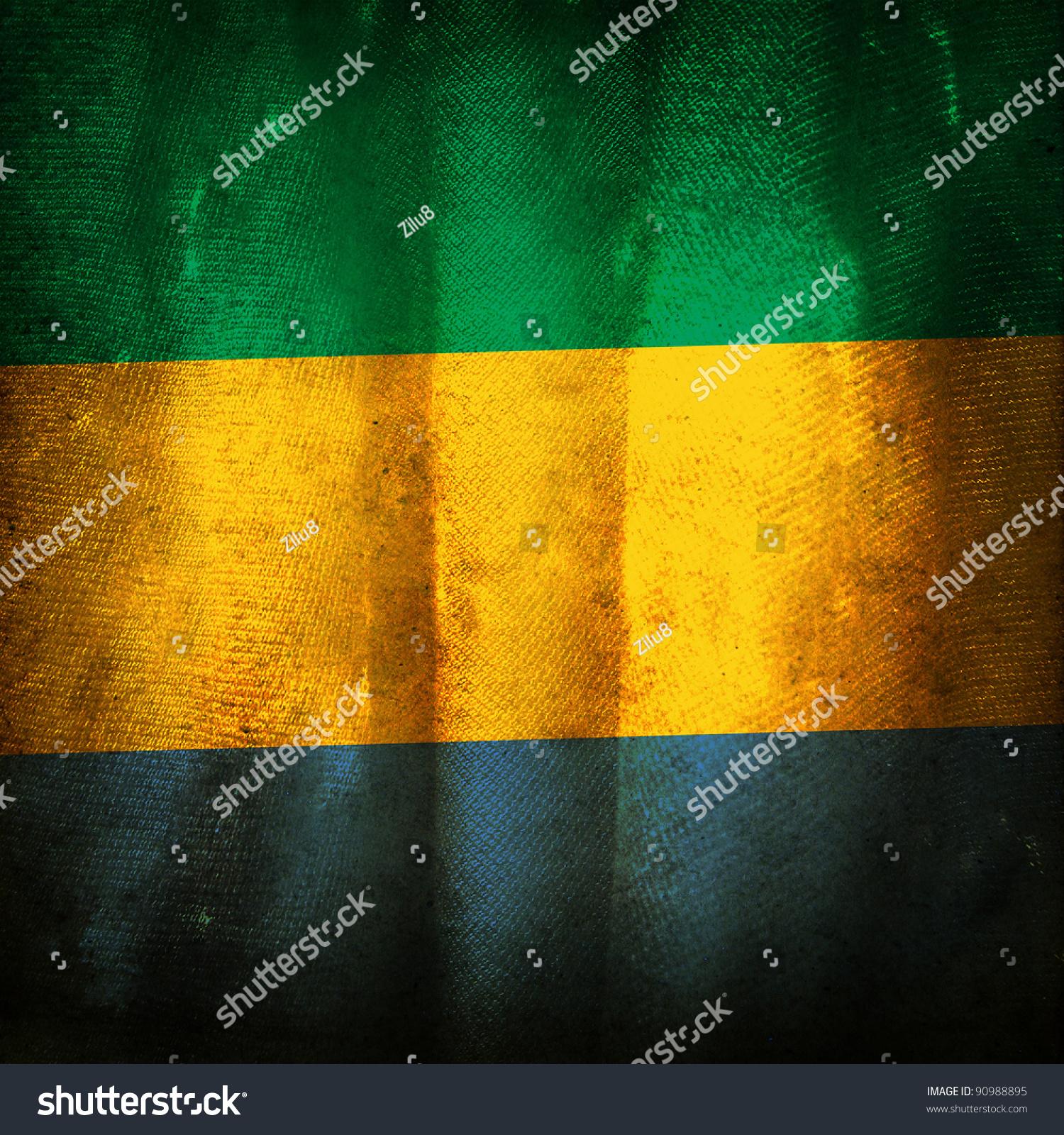 Old Grunge Flag Gabon Stock Photo 90988895 - Shutterstock