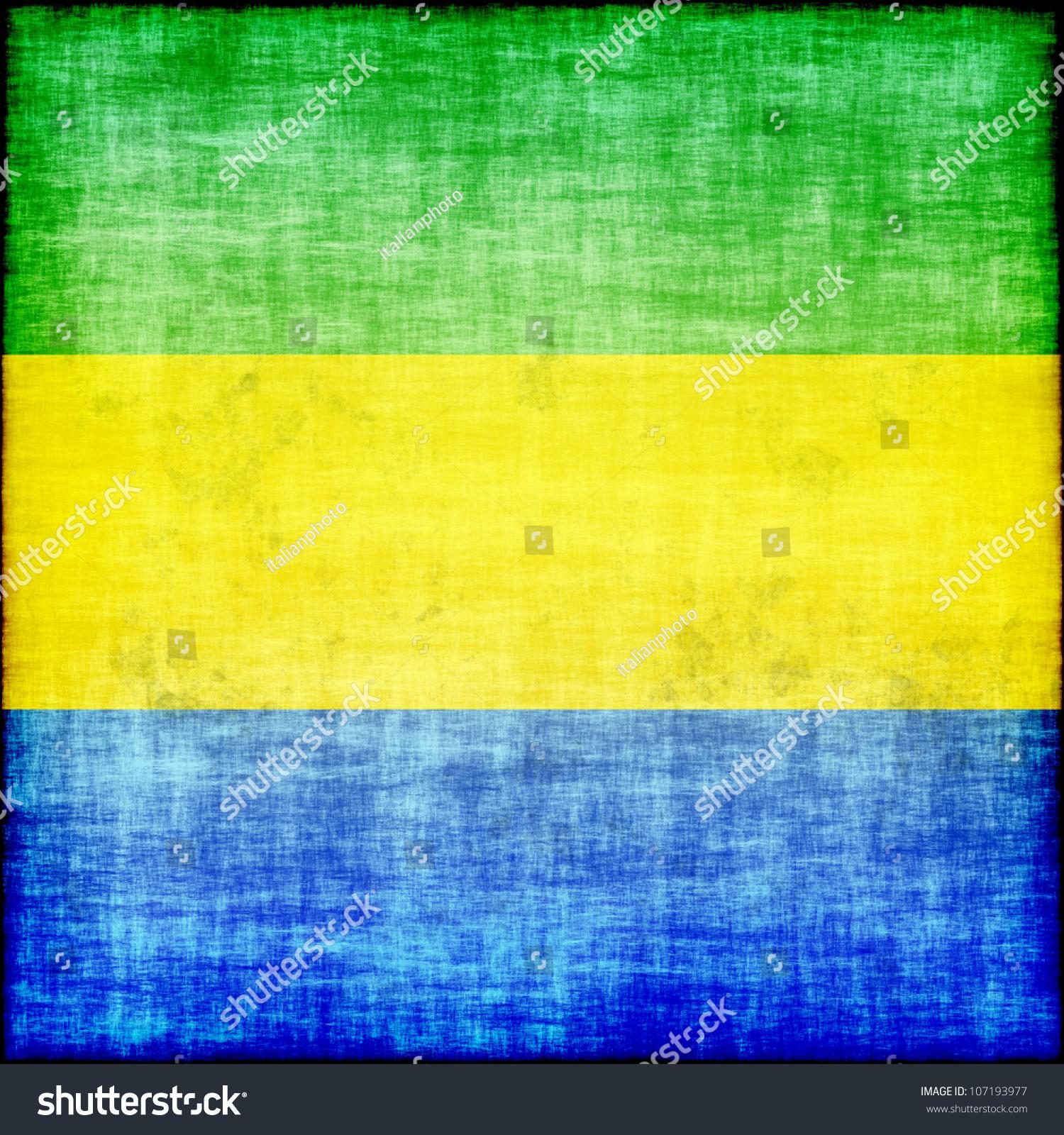 Gabon Grunge Flag Stock Illustration 107193977 - Shutterstock