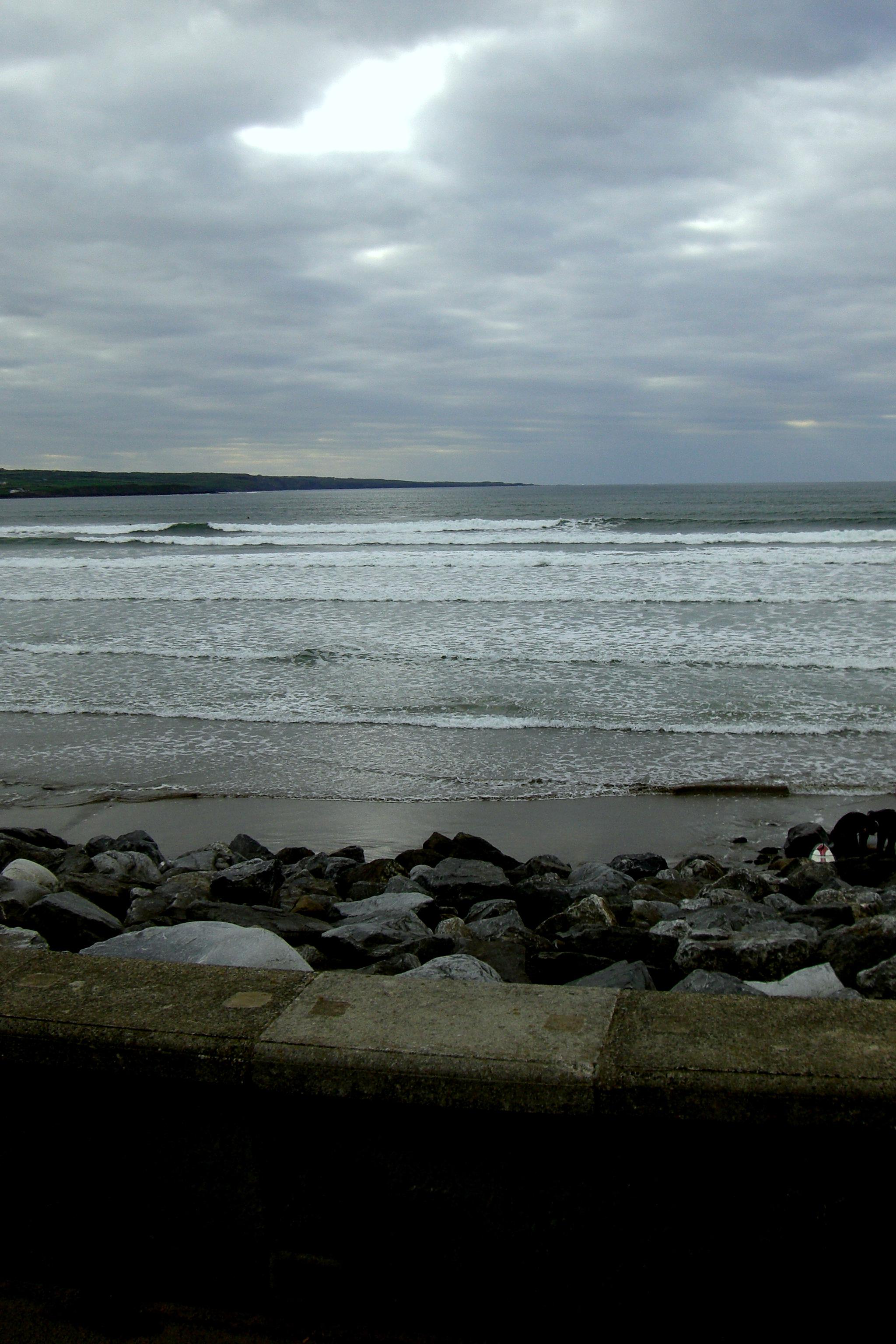Galway Bay - Ireland, Atlantic, Beach, Clouds, Dark, HQ Photo