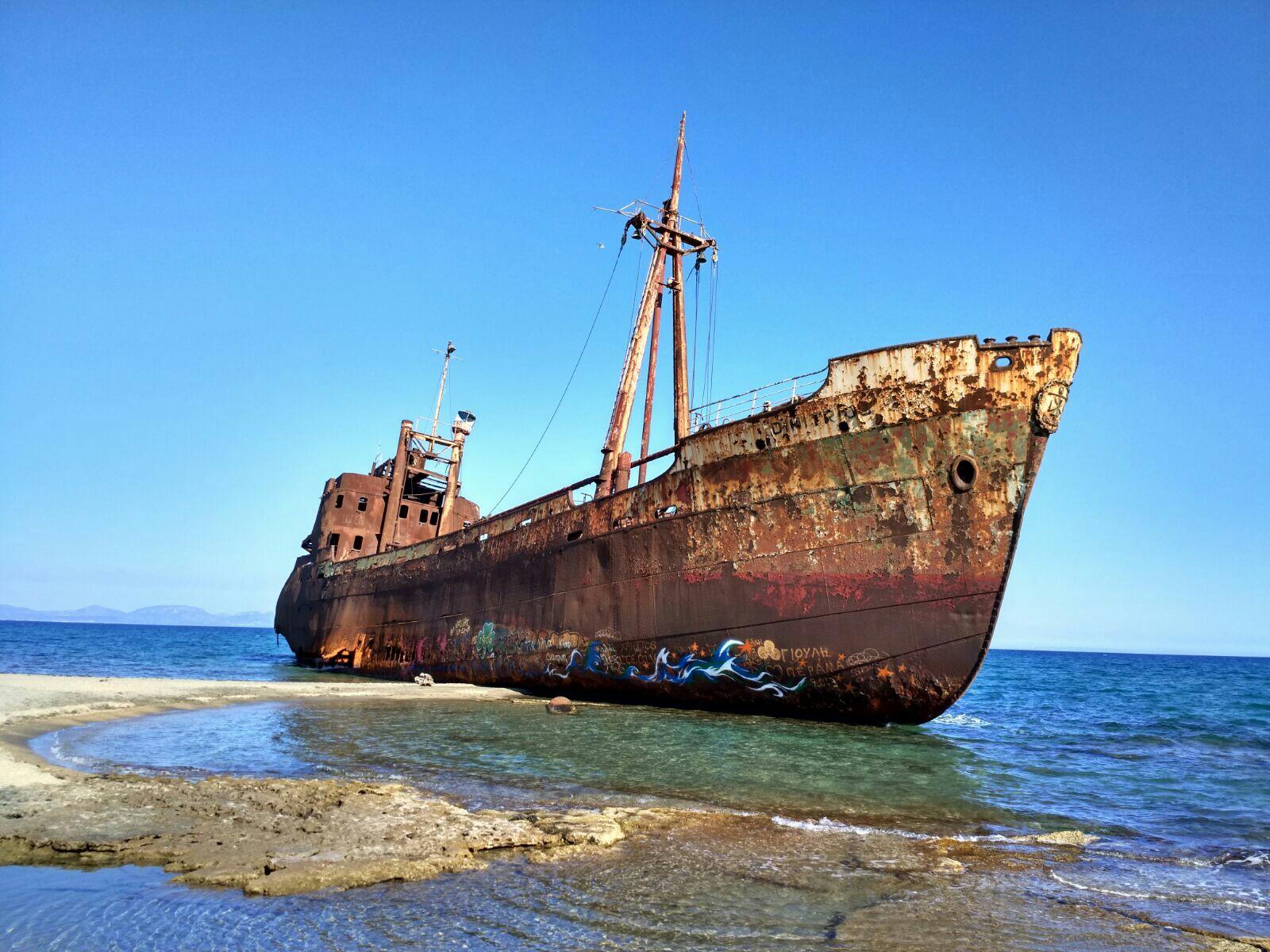 A rusty shipwreck in gytheion, greece | Abandoned | Pinterest ...