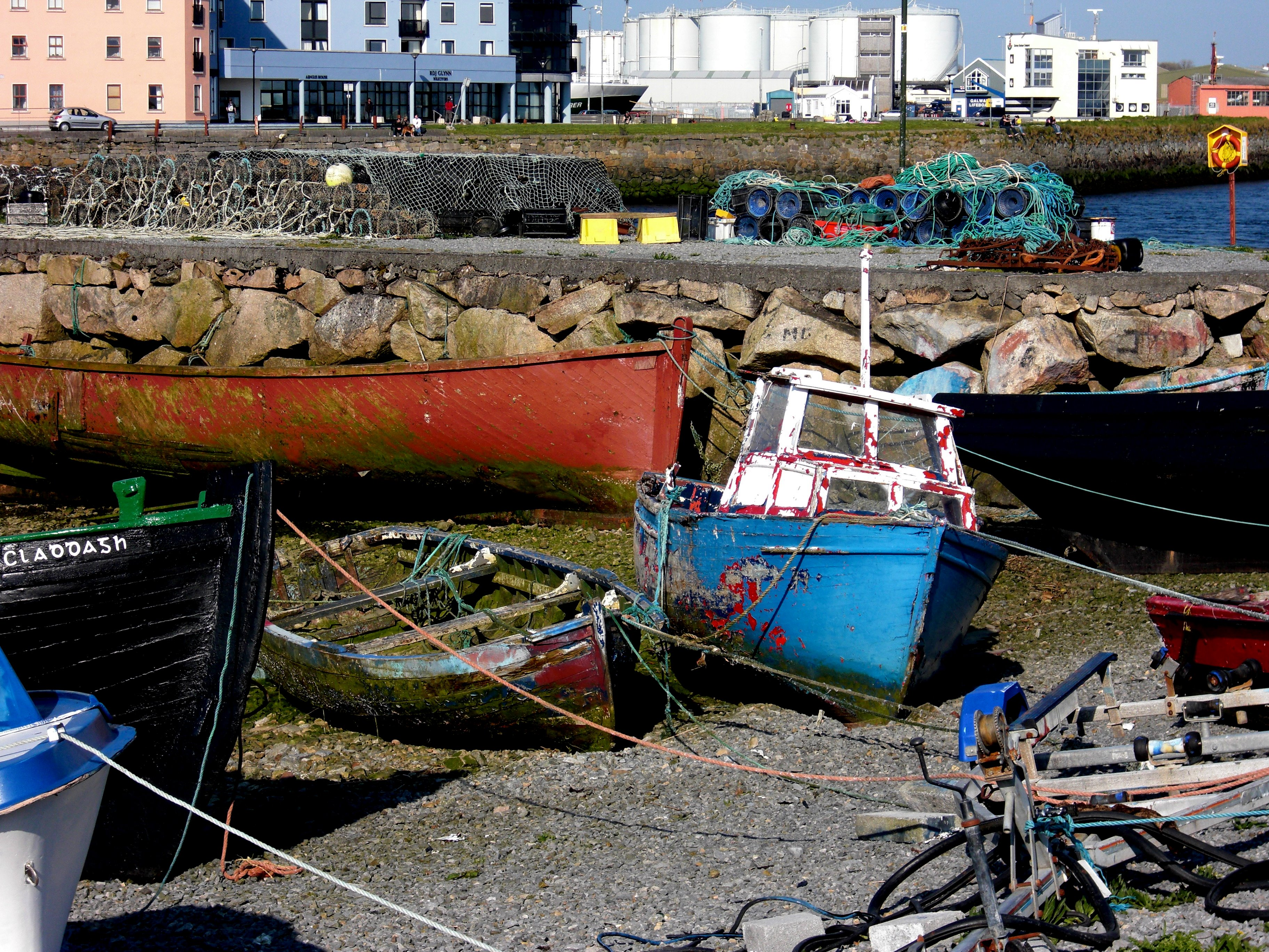 Galway Shipwrecks, Boat, Dock, Dry, Galway, HQ Photo