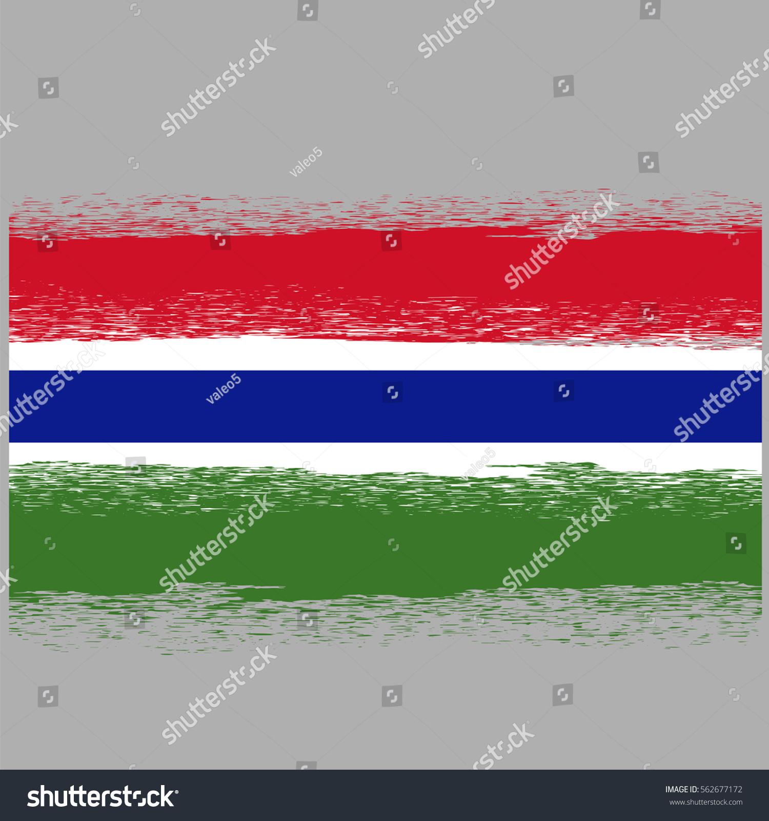 Vector Flag Gambia Symbol Has Detailed Stock Vector 562677172 ...