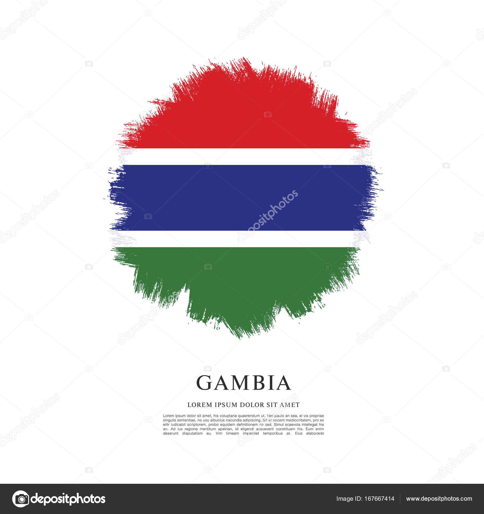 texture with flag of Gambia — Stock Vector © Igor_Vkv #167667414