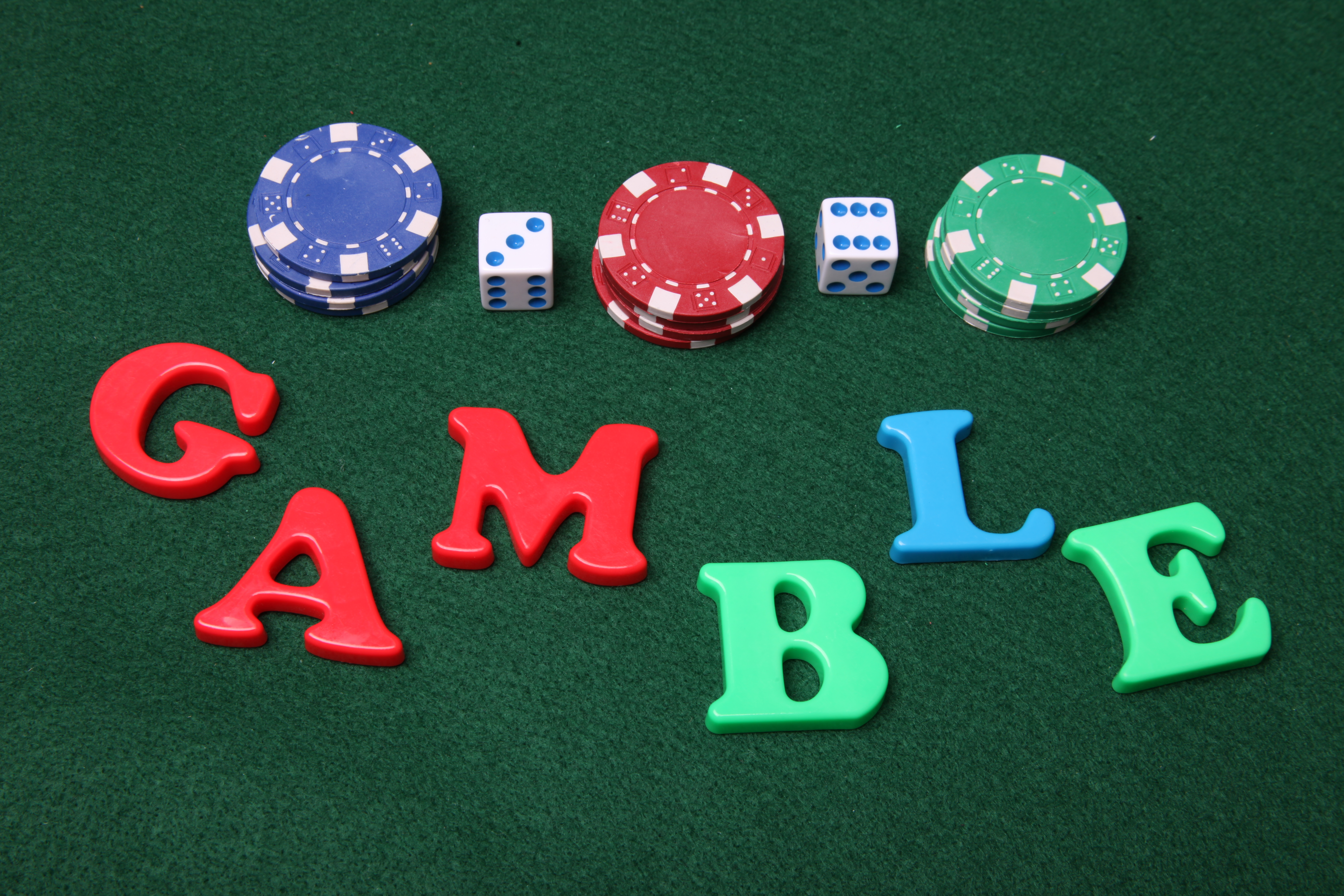 Gamble letters, Green, Letters, Table, Gamble, HQ Photo