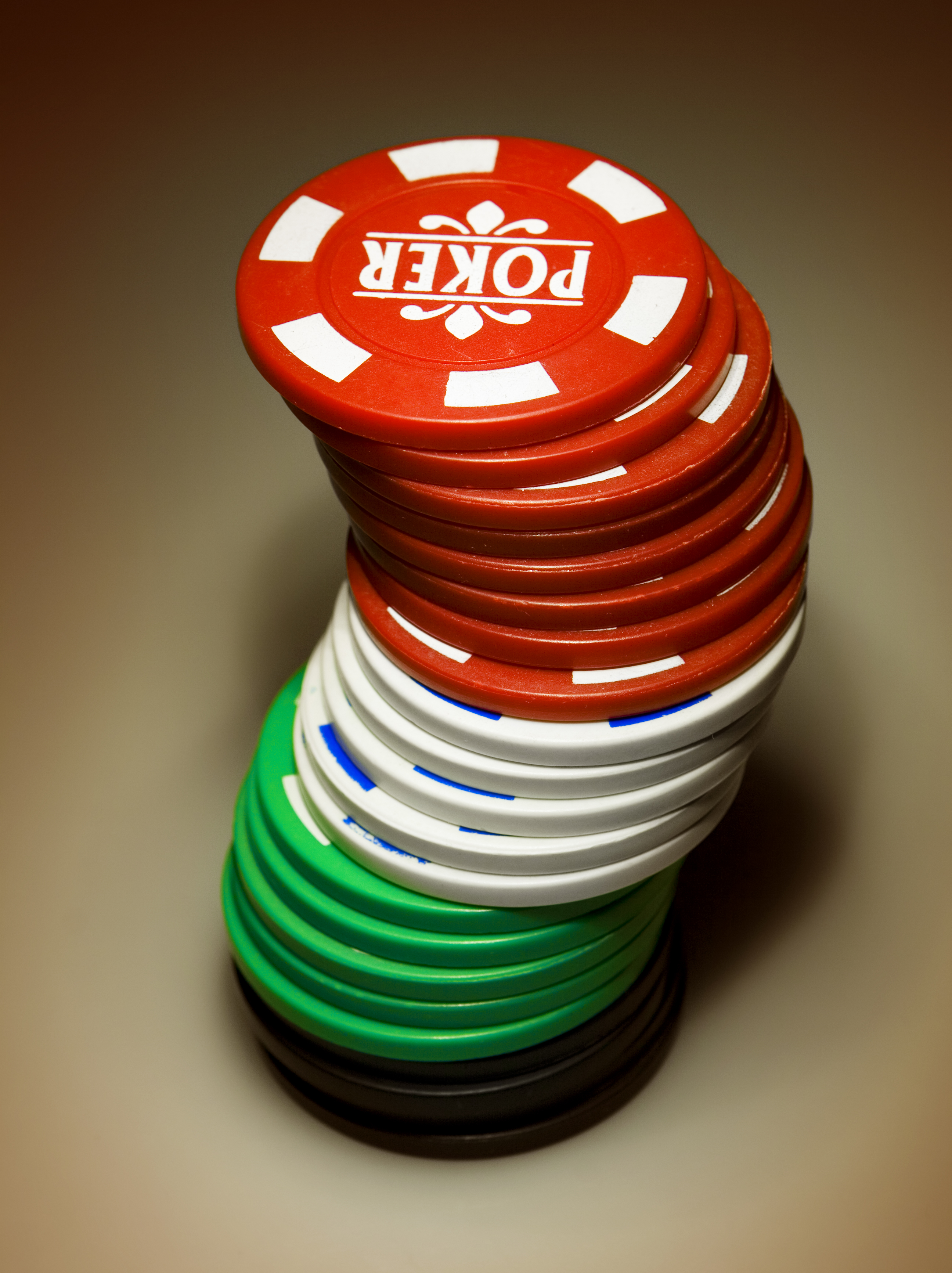 Gambling chips, Single, Risk, Reflection, Red, HQ Photo