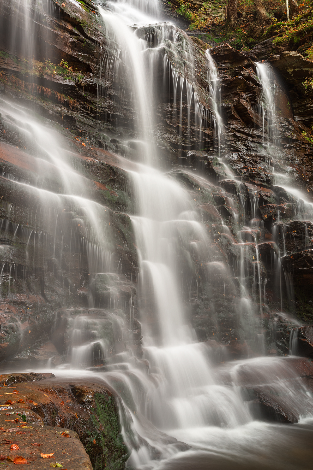 Ganoga autumn falls - hdr photo