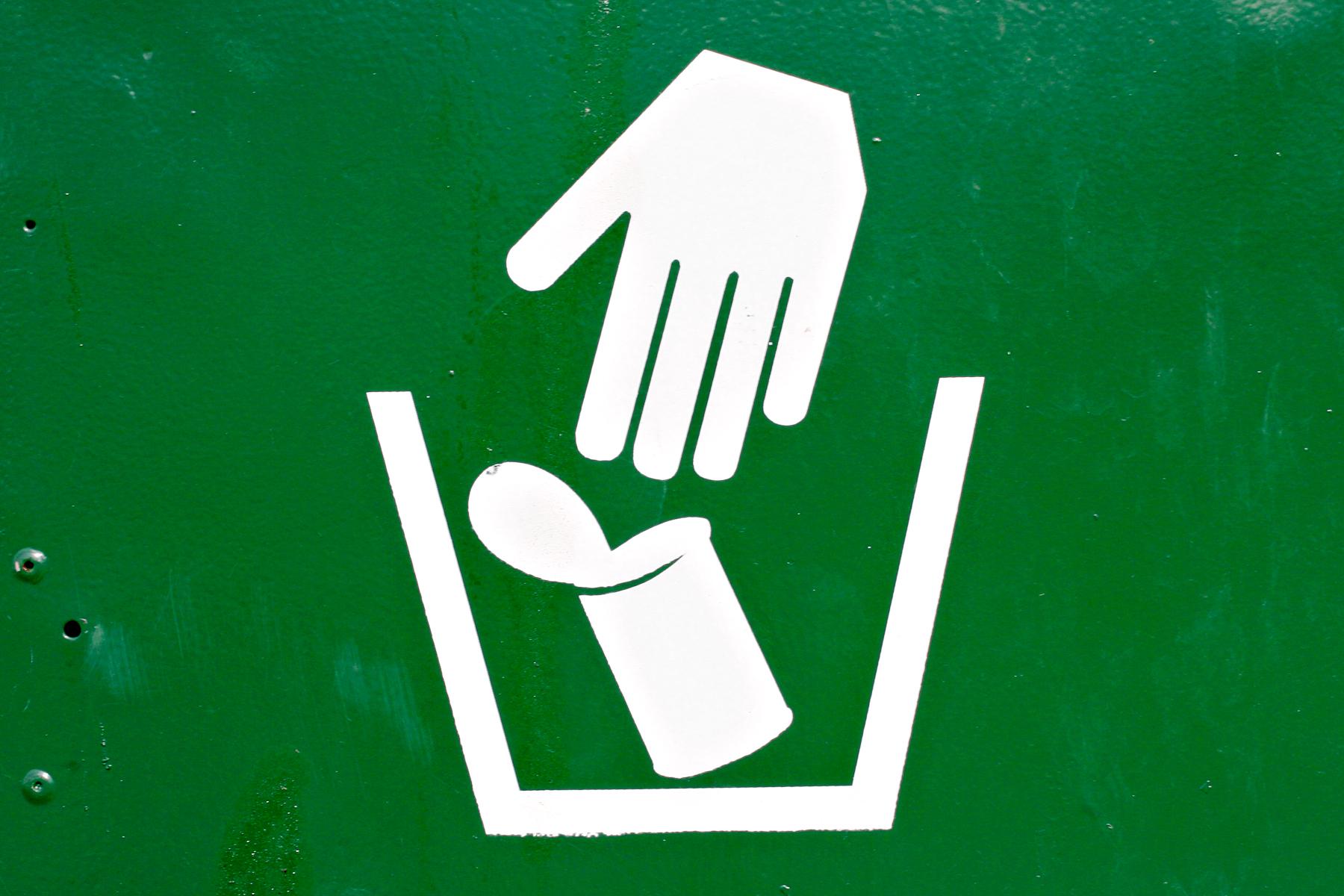 Garbage disposal sign photo