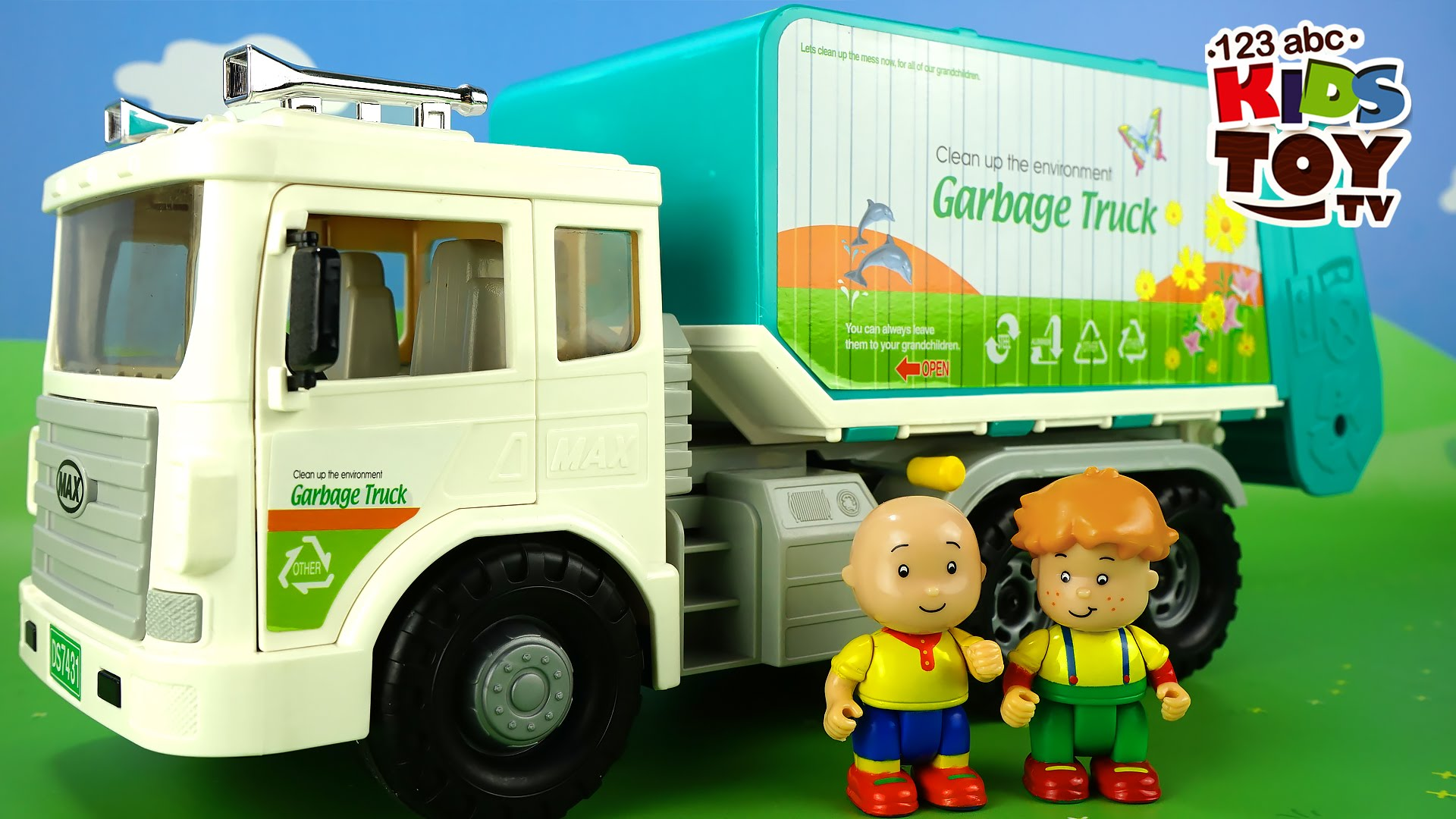 Toy GARBAGE TRUCK. Toys for boys. The amusing animated film for kids ...