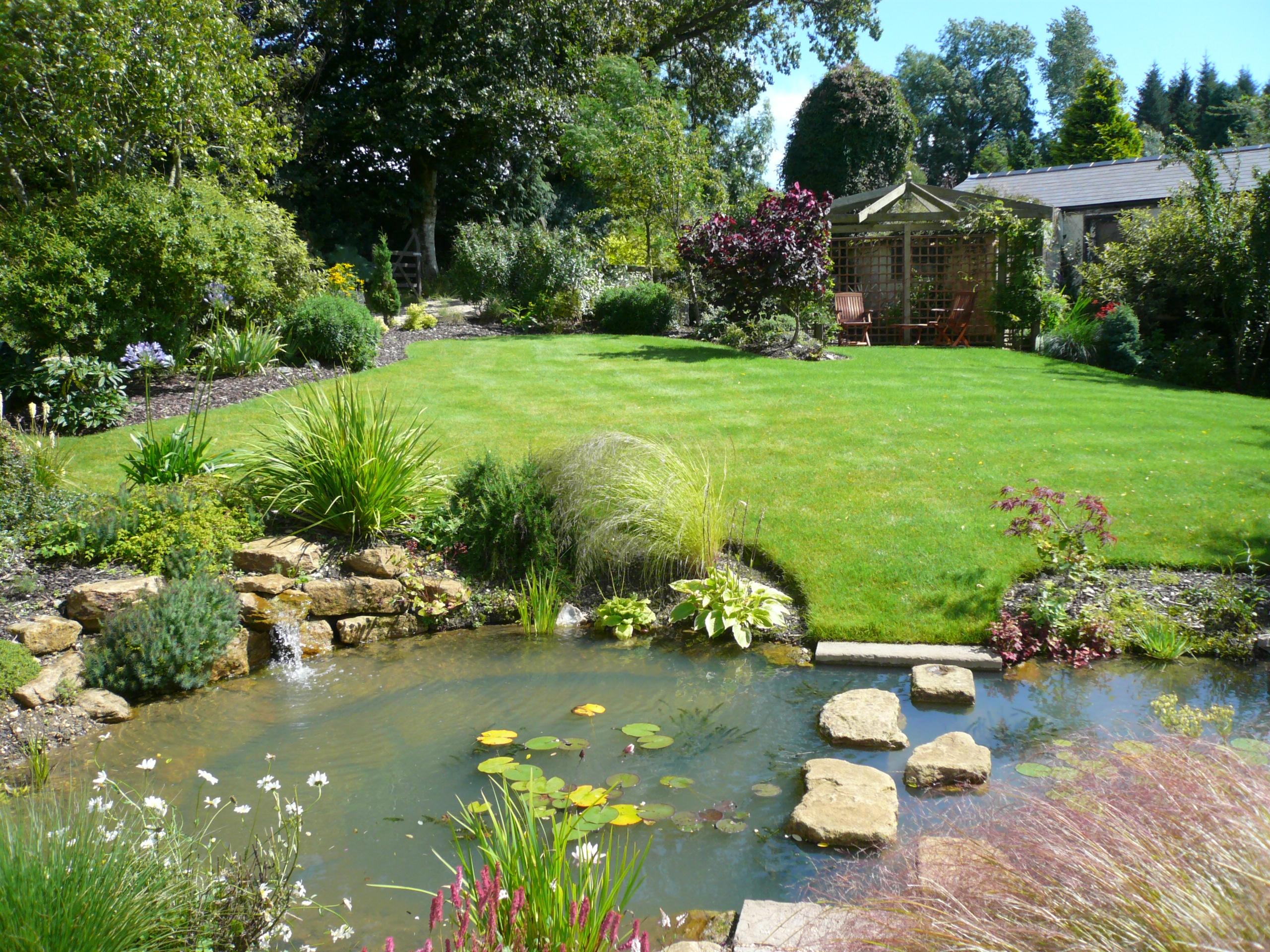 Free photo: Garden Lanscape - Garden, Landscape, Roses ...