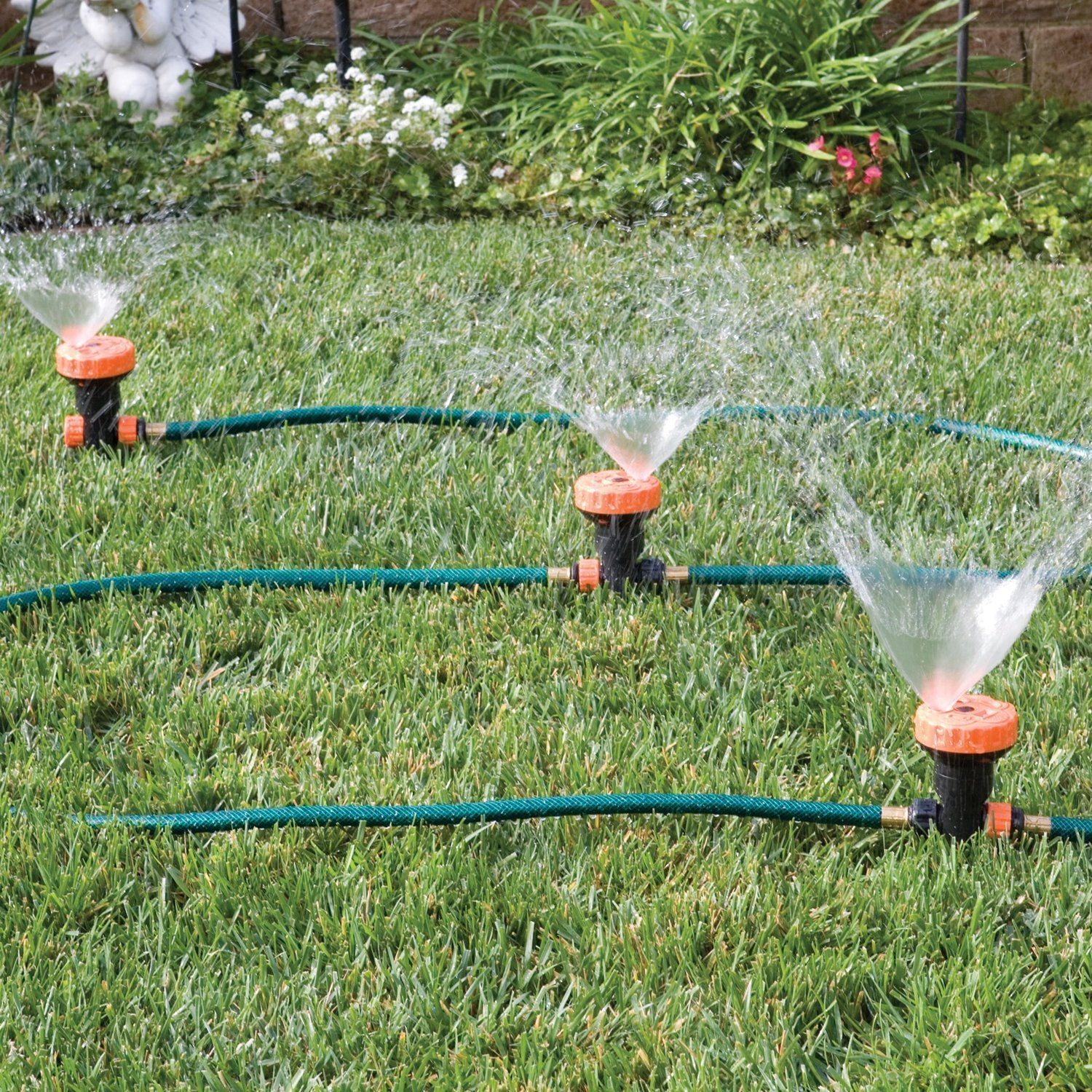 Amazon.com : 3 in 1 Portable Sprinkler System with 5 Spray Settings ...