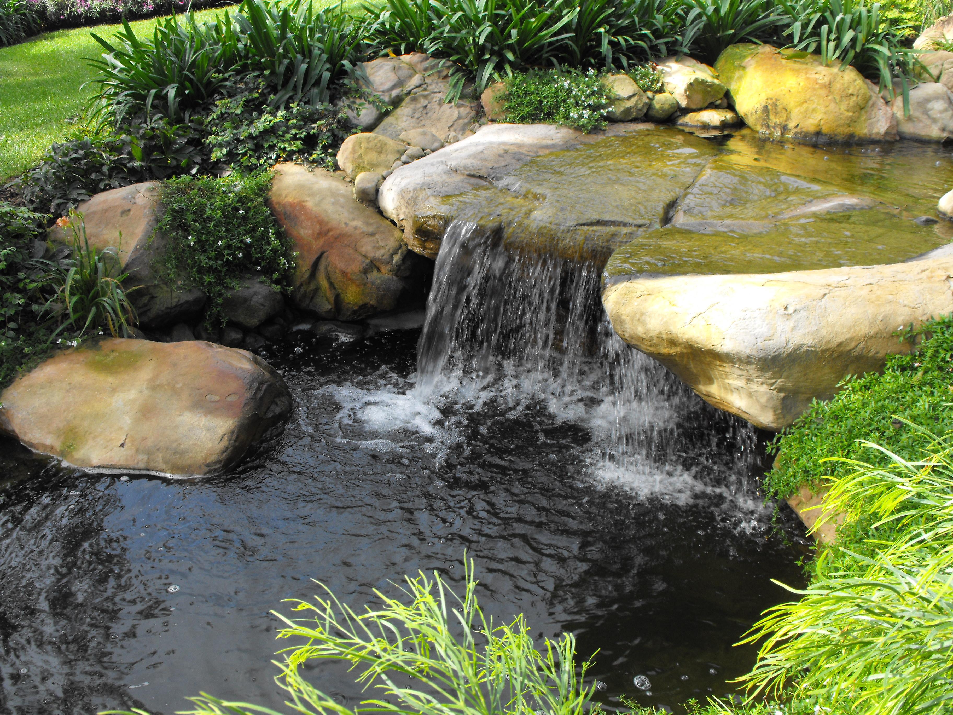 Garden waterfalls photo