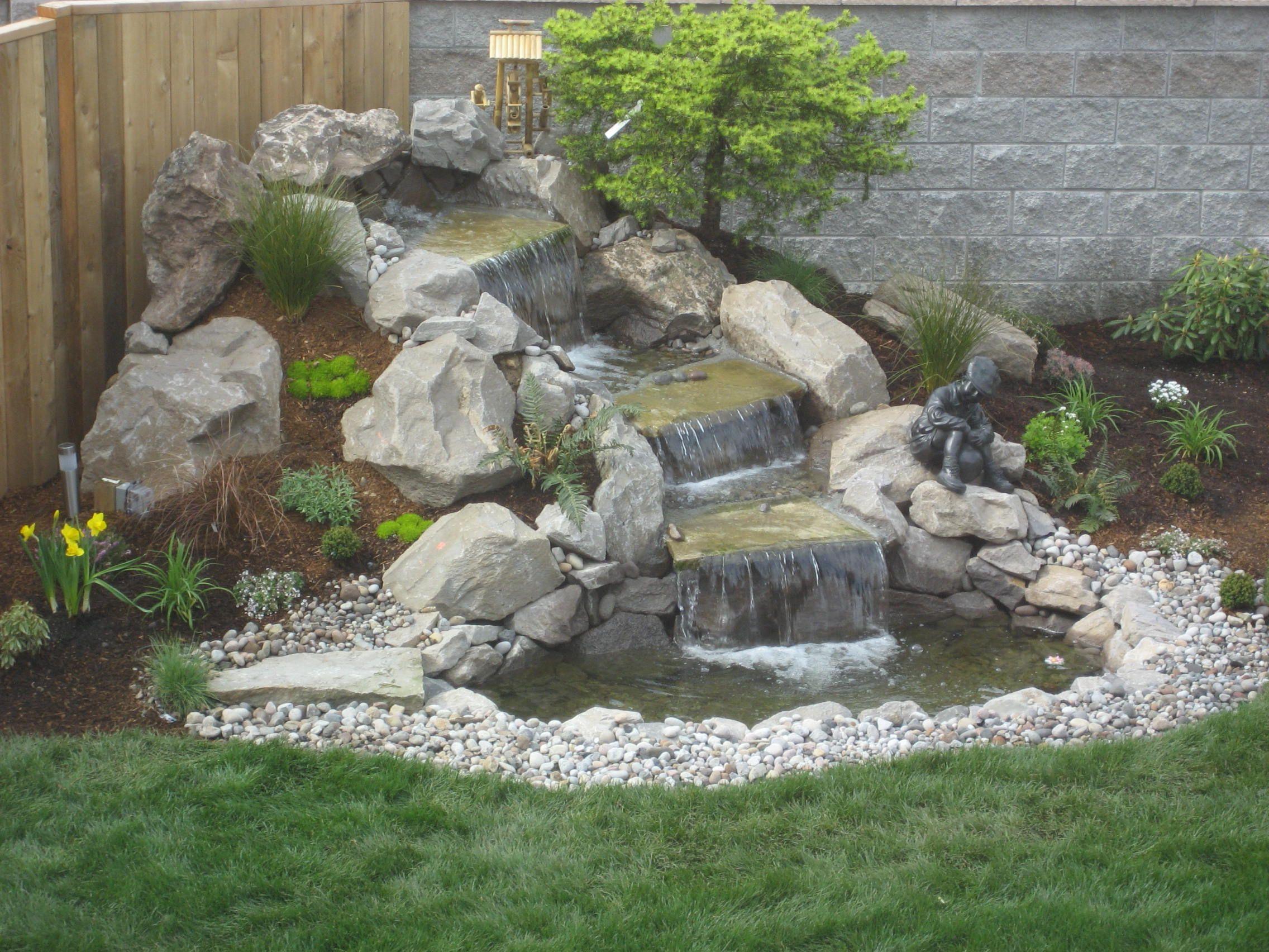 Natural Garden Waterfalls For Backyard Design Exterior Outdoor ...