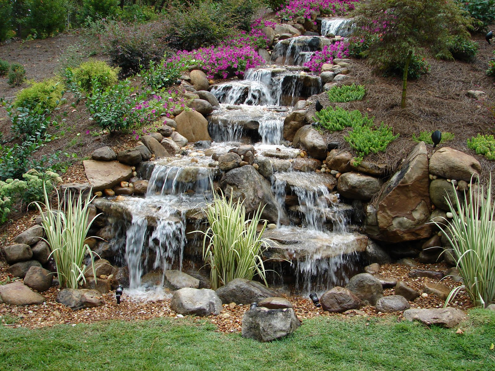 Backyard Waterfall Pictures Waterfalls Without Ponds The Drama All ...