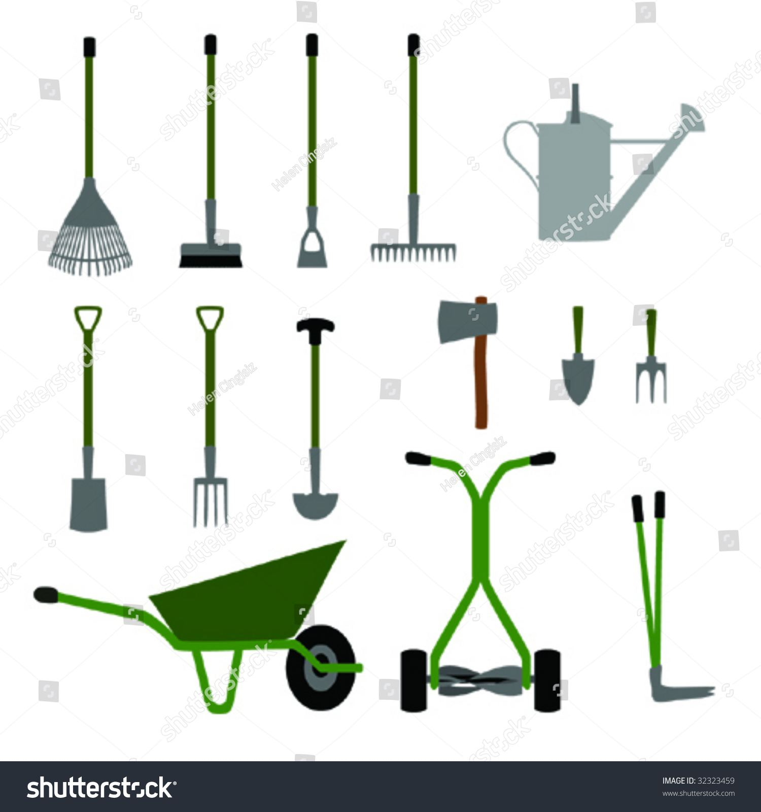Garden tools - Elegant Gardening tools Equipment Set No1 Stock ...