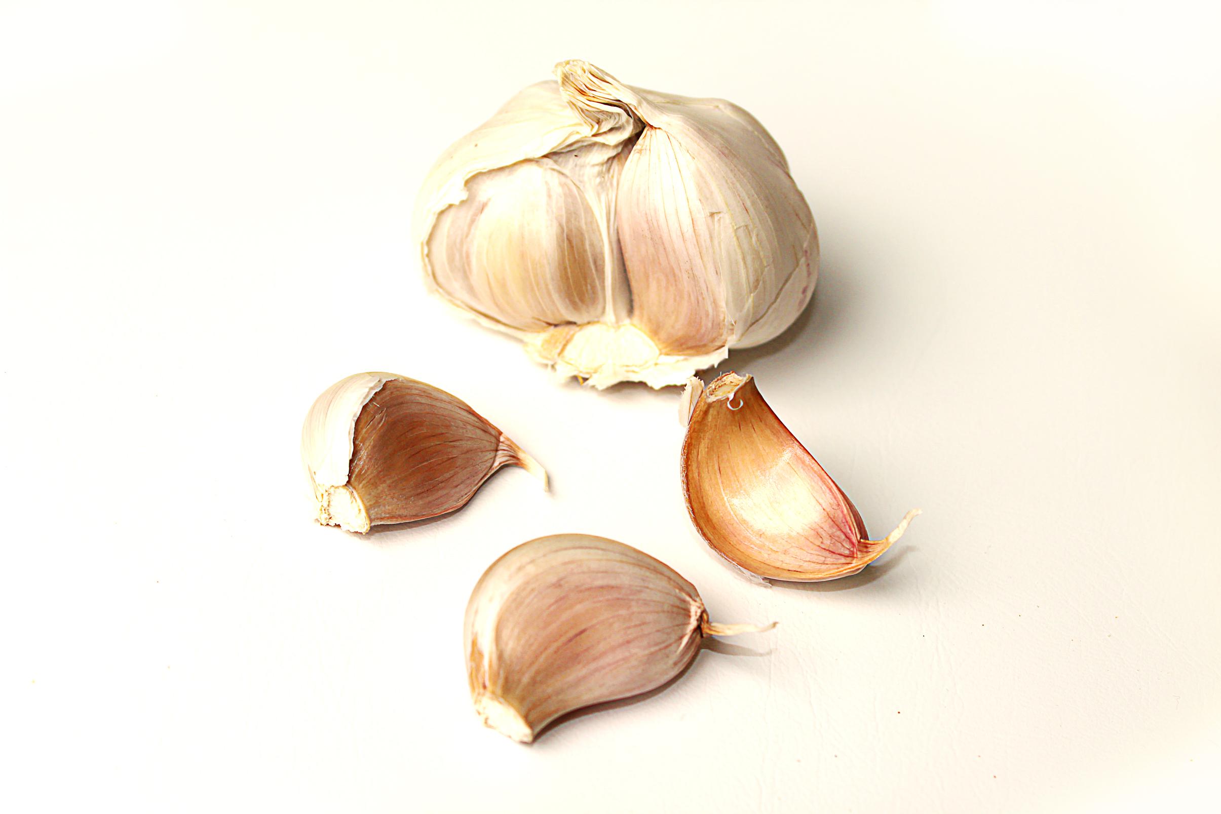 Garlic on white background, Aromatic, Nutrition, Vitamins, Vegetables, HQ Photo
