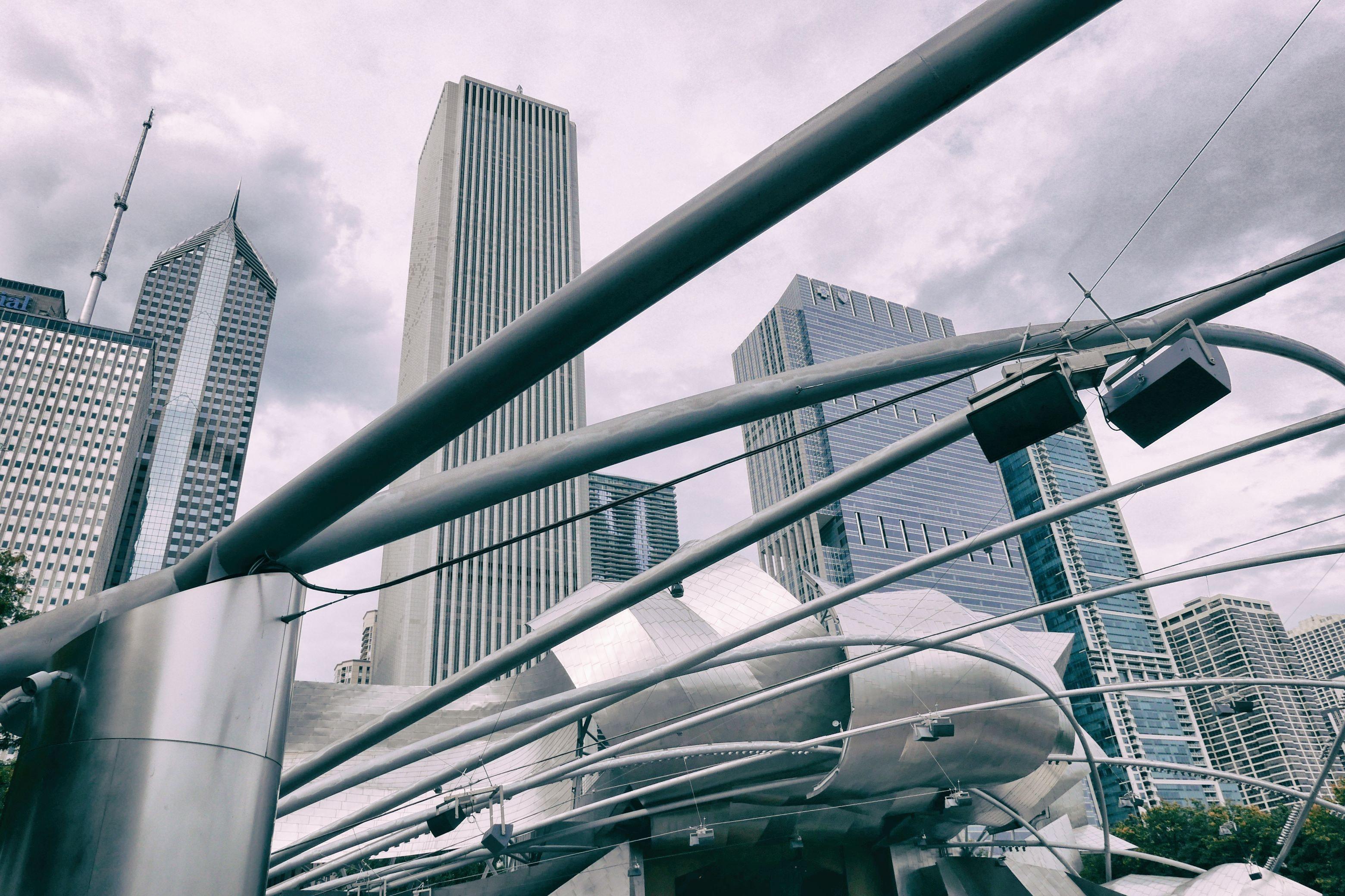 Gary Steel Frame, Architectural design, High, Urban, Tower, HQ Photo