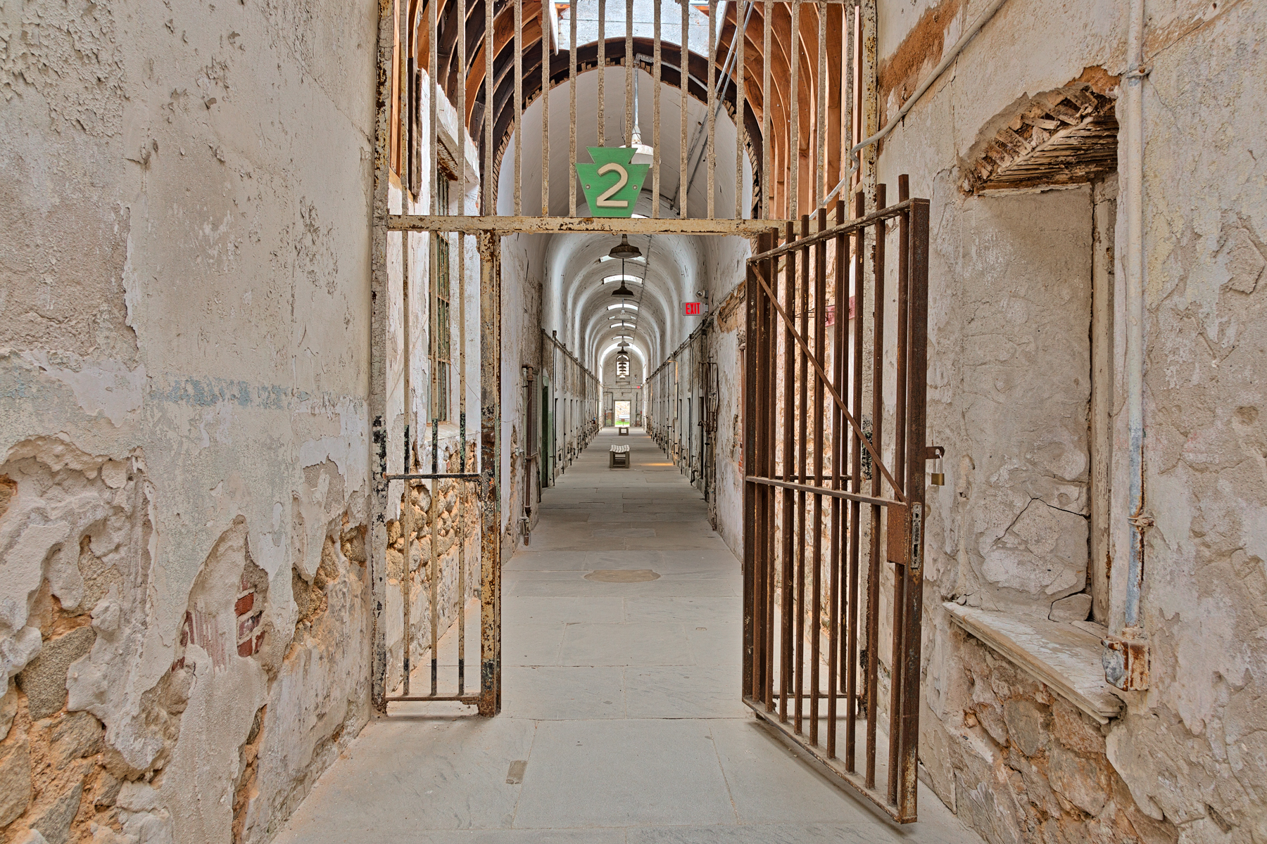 Gated prison corridor - hdr photo