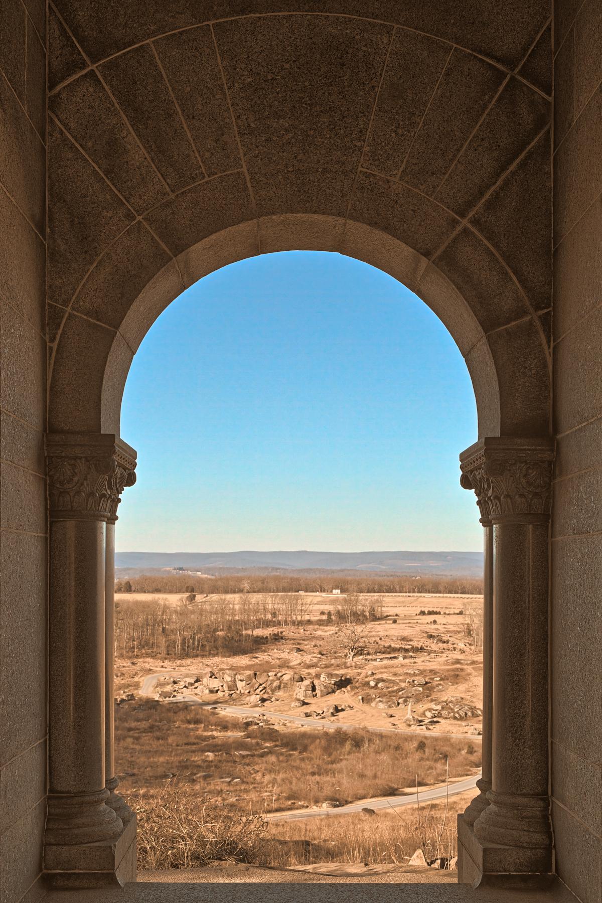 Gateway to gettysburg - sepia nostalgia hdr photo