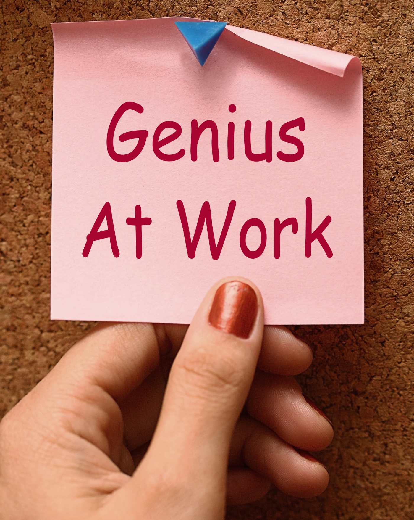 Genius At Work Means Do Not Disturb, Brilliant, Competency, Competent, Experienced, HQ Photo